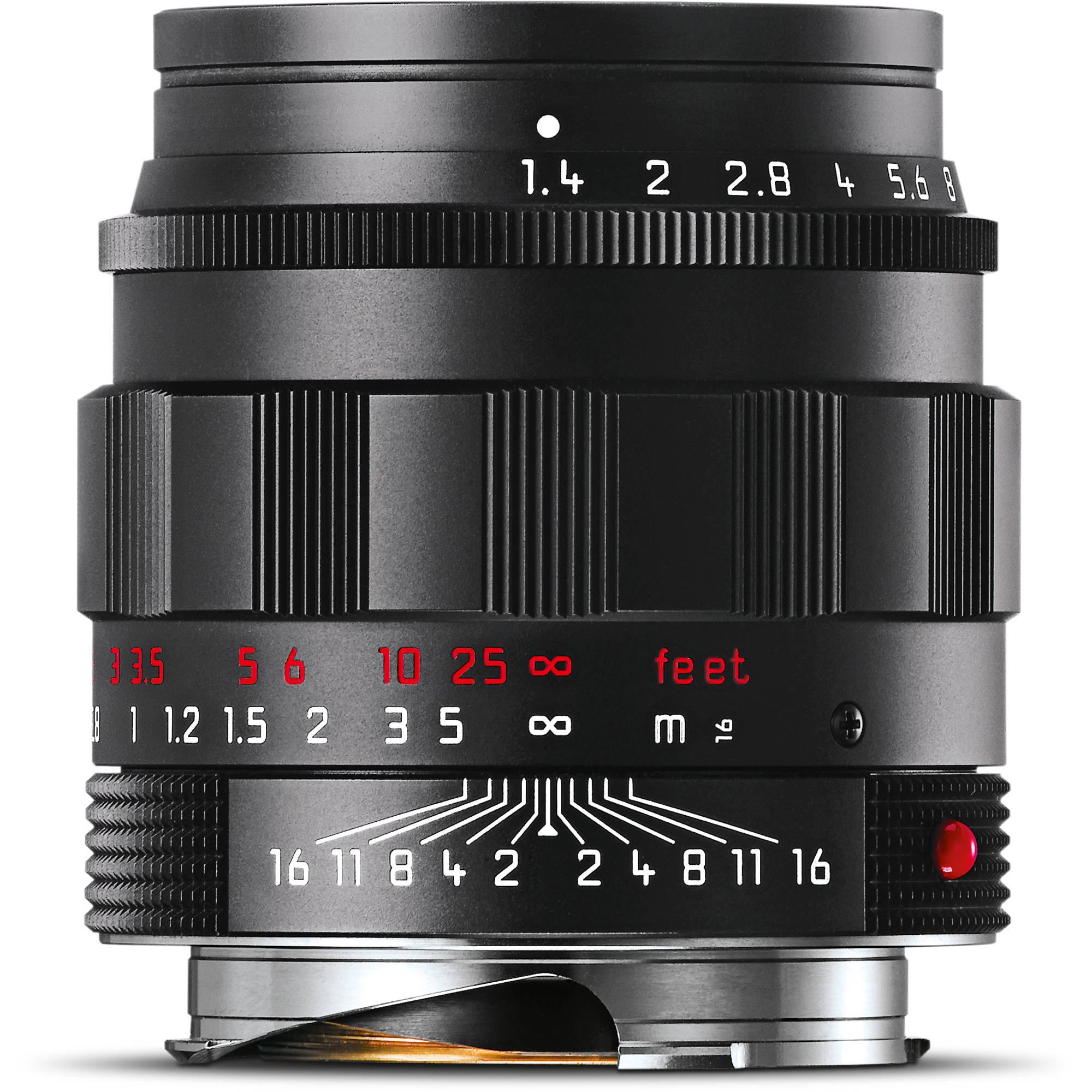Leica Summilux-M 50mm f/1 4 ASPH  Lens (Black-Chrome Edition)