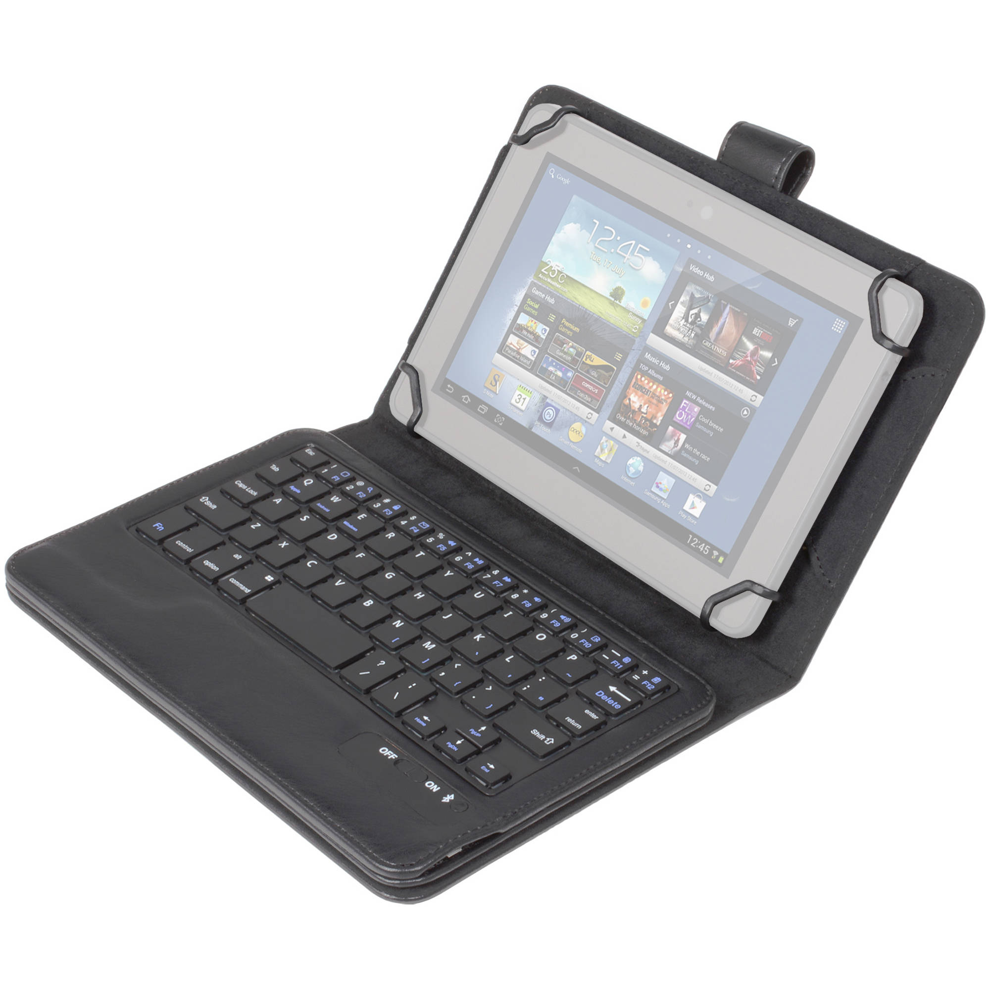 DIGITAL TREASURES Props Universal Bluetooth Keyboard Case for 7 & 8