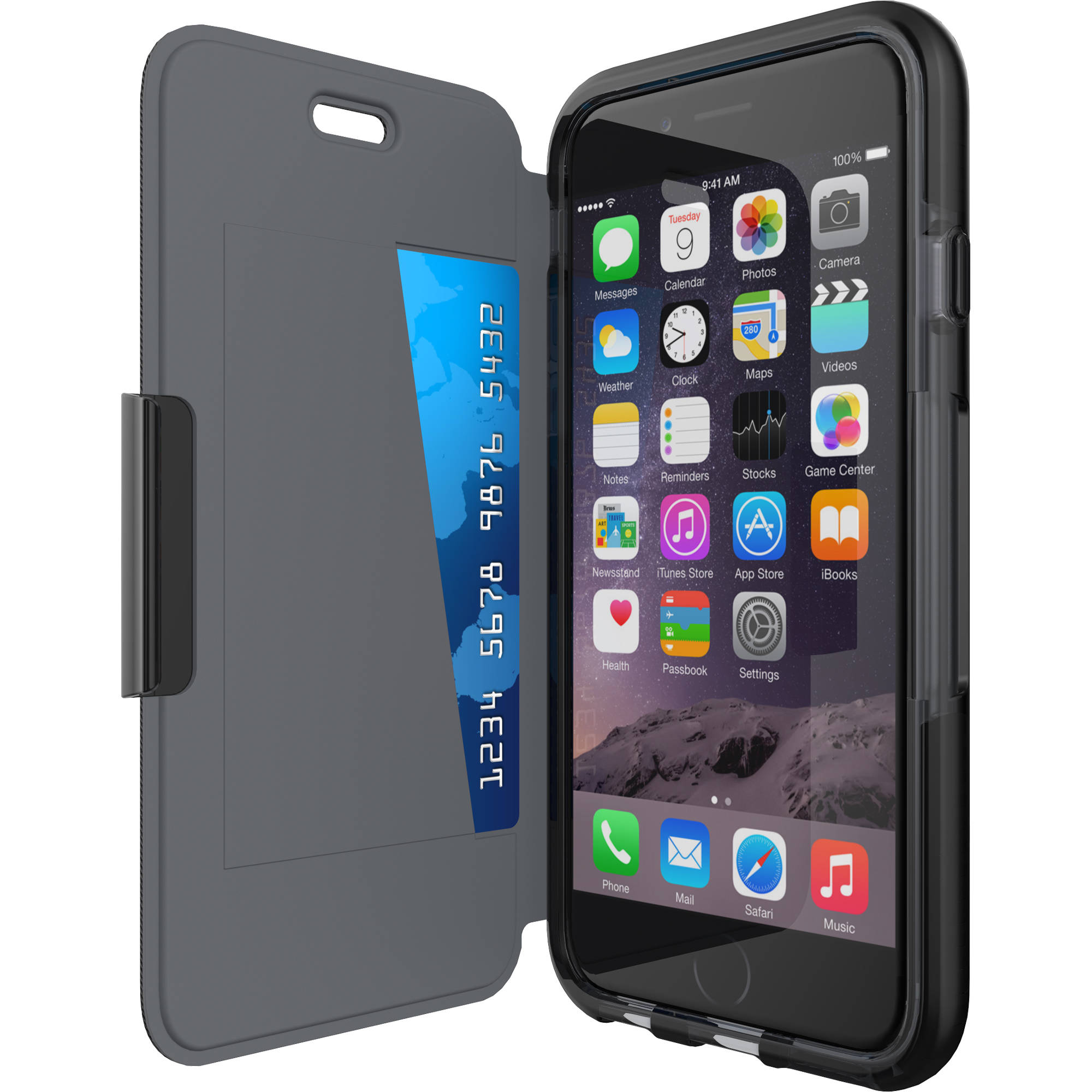 newest 76e5b 6ce34 Tech21 Evo Wallet Case for iPhone 6 (Black)