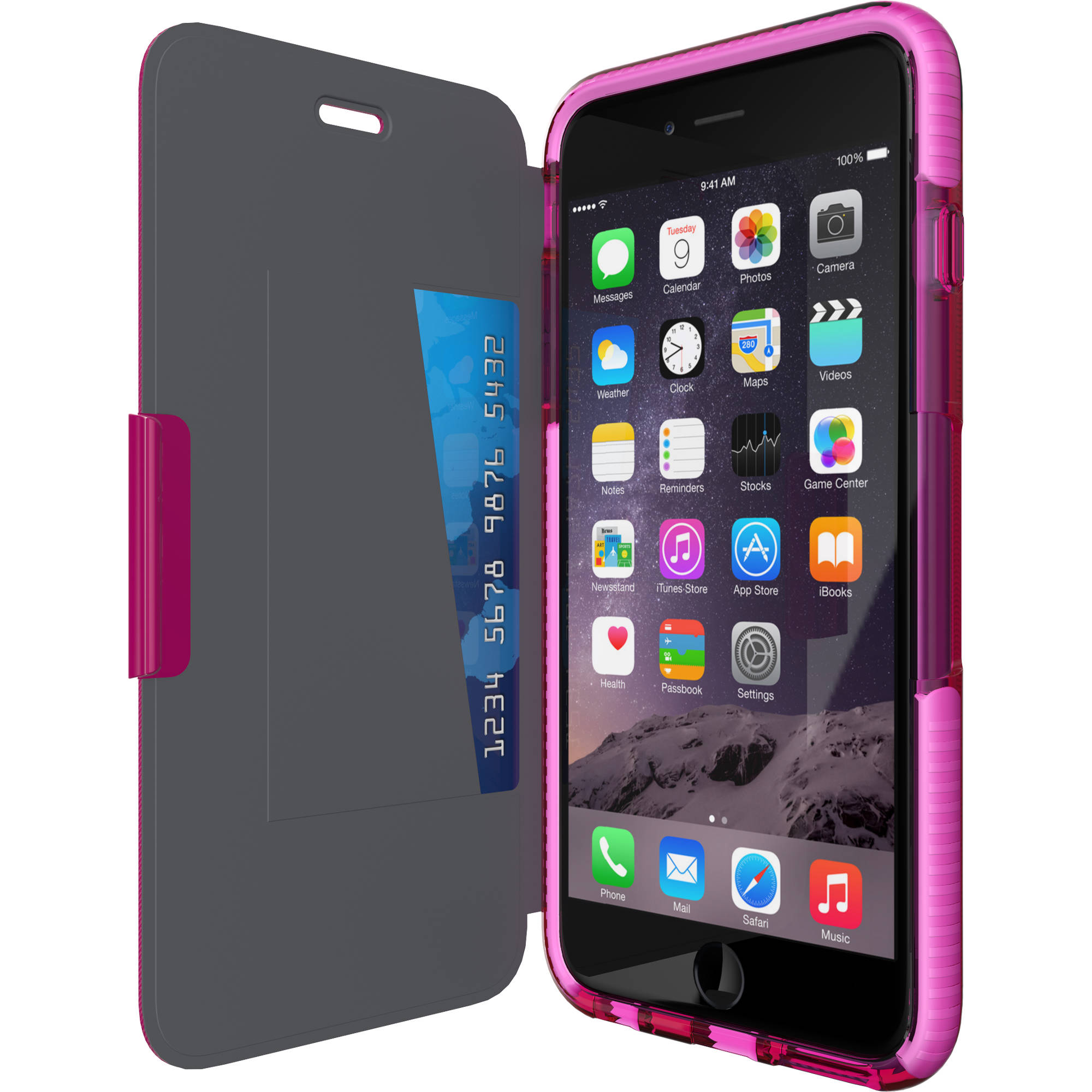 brand new bb77f 2cc80 Tech21 Evo Wallet Case for iPhone 6 Plus (Pink)