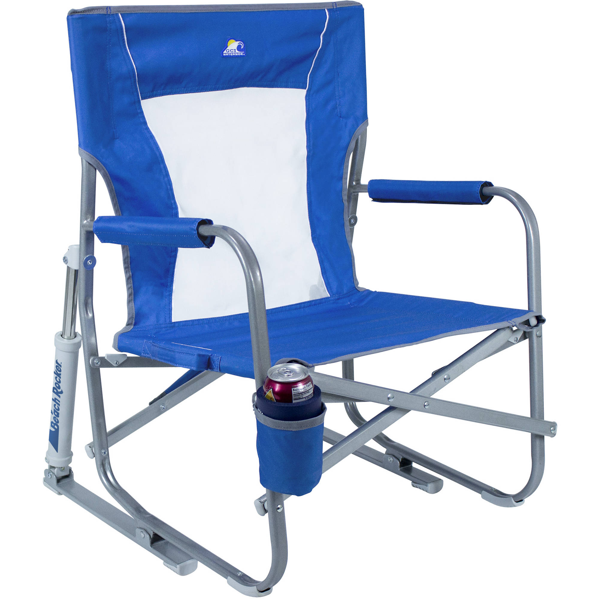 Brilliant Gci Outdoor Beach Rocker Folding Chair Saybrook Blue Gmtry Best Dining Table And Chair Ideas Images Gmtryco