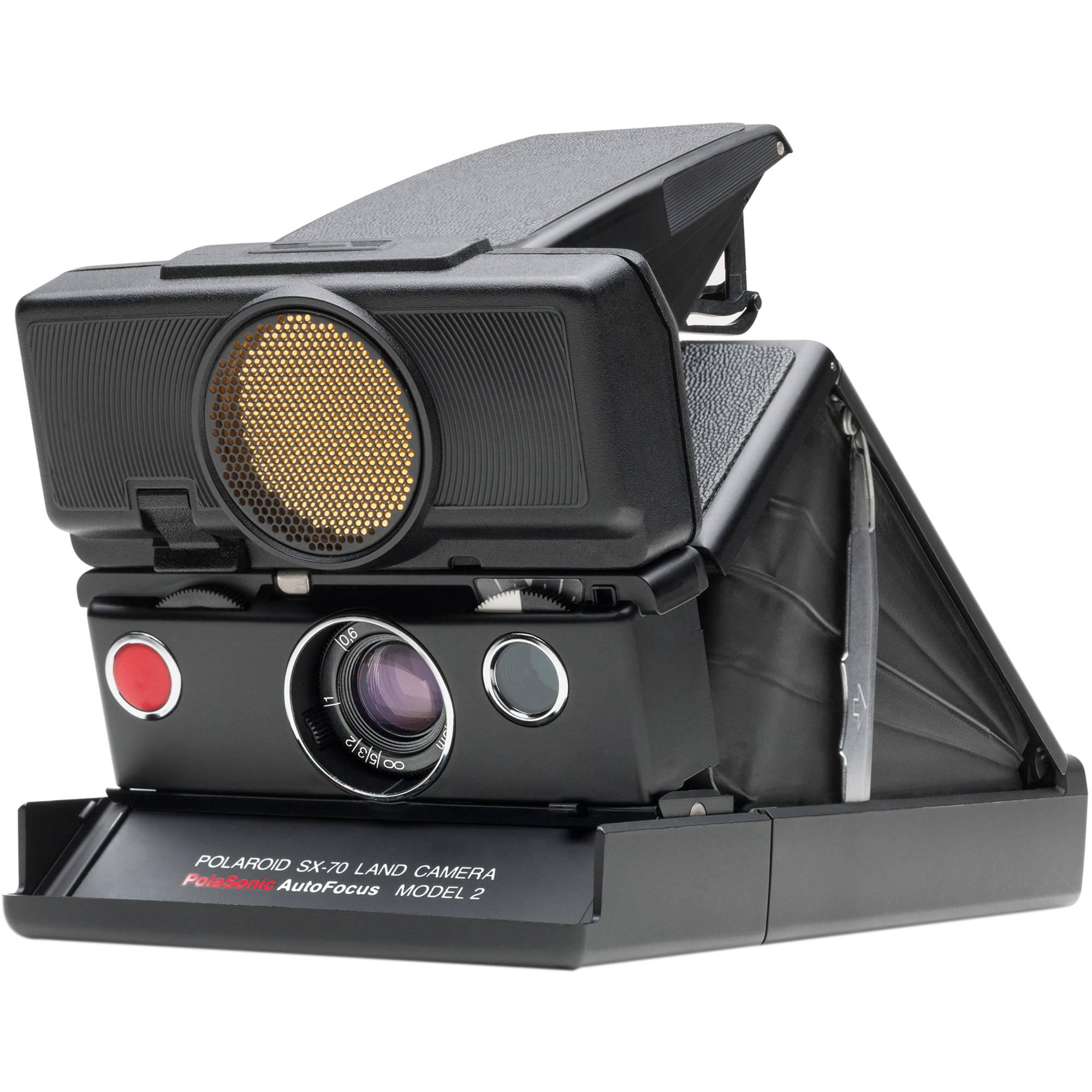 Impossible Polaroid SX-70 Sonar Instant Film Camera (Black)