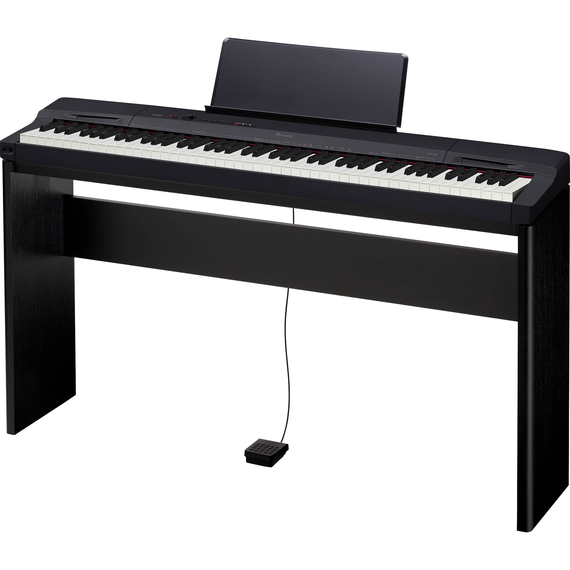 Casio PX-160 Privia 88-Key Digital Piano with Matching CS-67 Keyboard Stand  (Black)