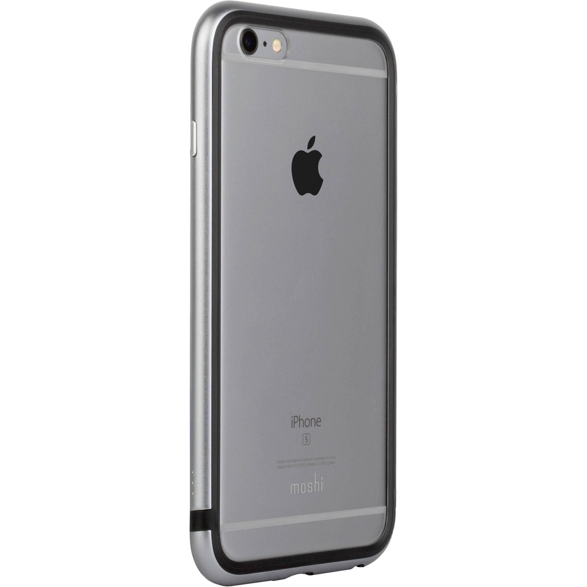 hot sale online 88ea9 7127c Moshi iGlaze Luxe Metal Bumper Case for iPhone 6/6s (Titanium Gray)