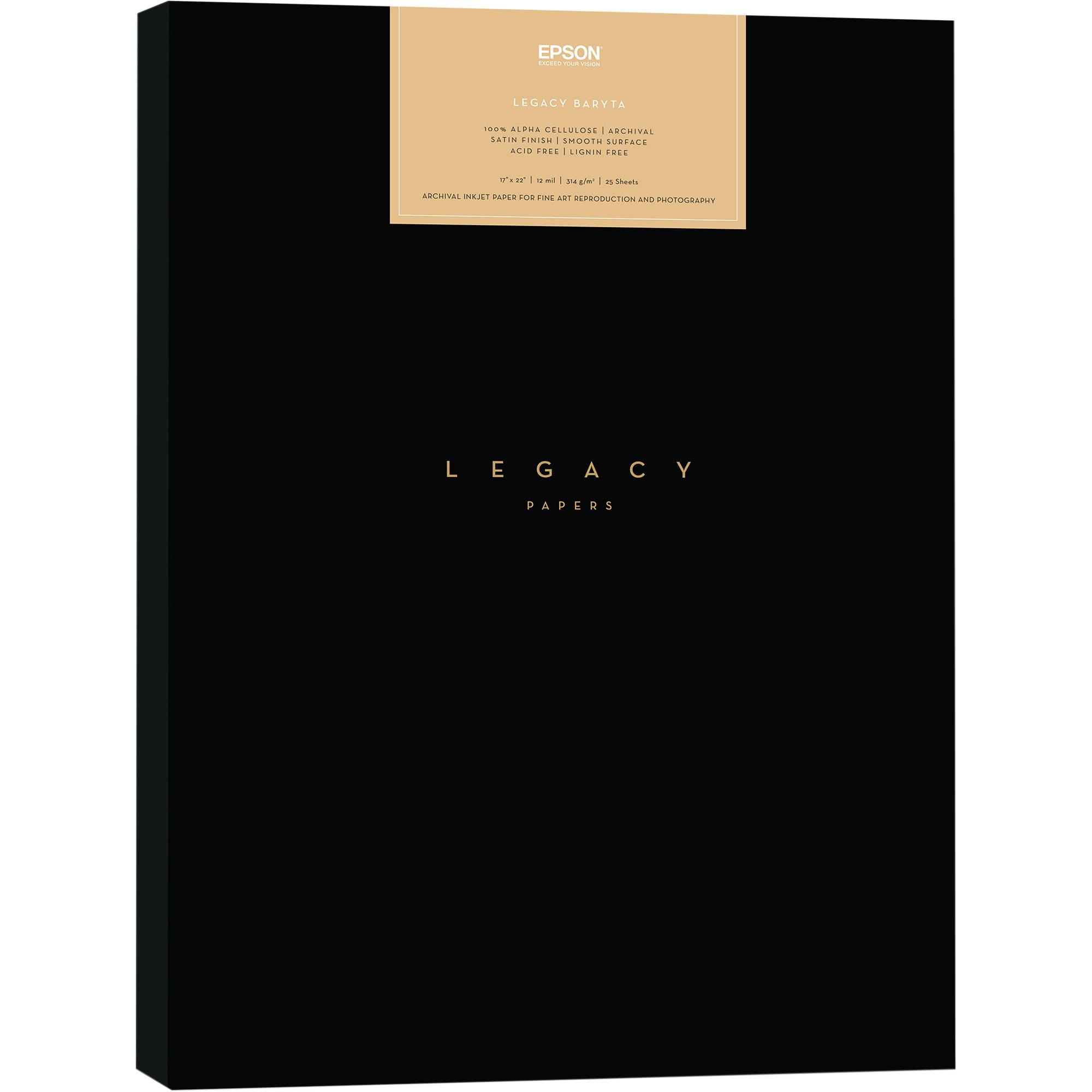 Epson Legacy Baryta Paper (17 x 22