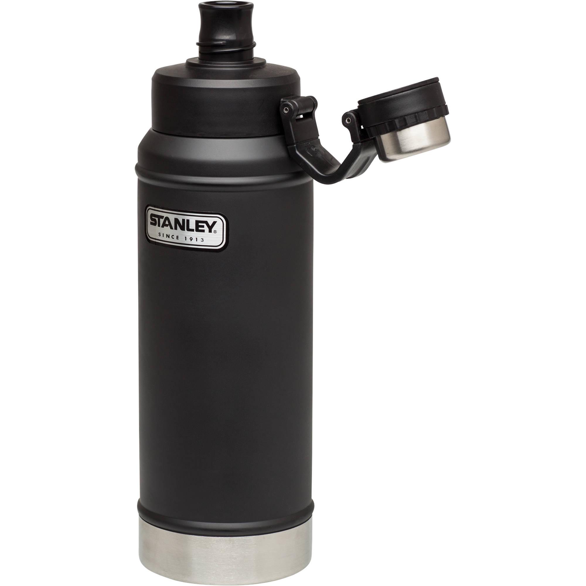 Stanley Classic Vacuum Water Bottle (36 fl oz, Matte Black)