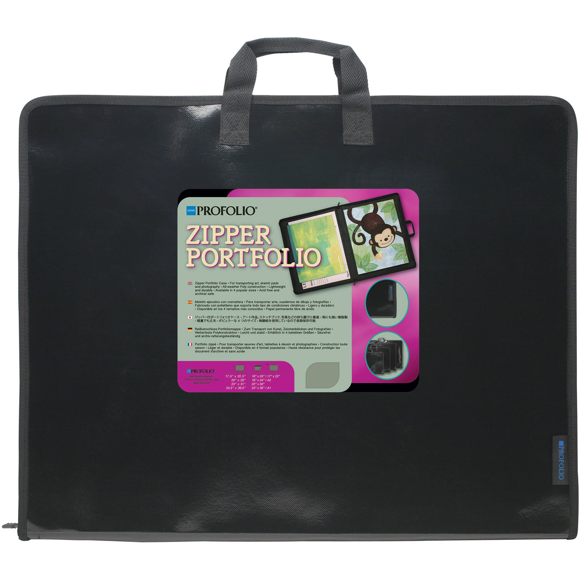 Itoya Zipper Portfolio Case for Art, Sketch Pads, and Photographs (23 x 31