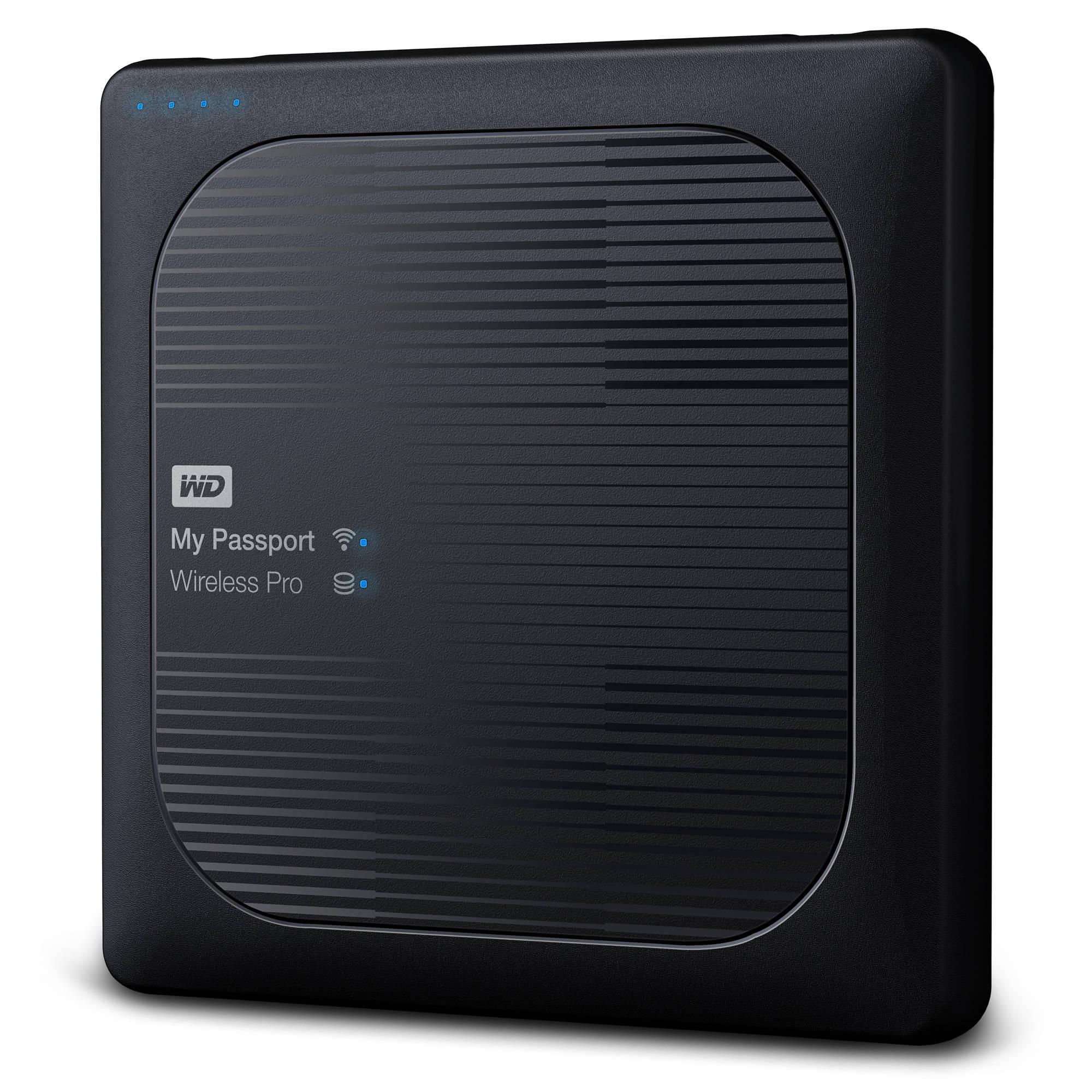 WD 2TB My Passport Wireless Pro USB 3 0 External Hard Drive