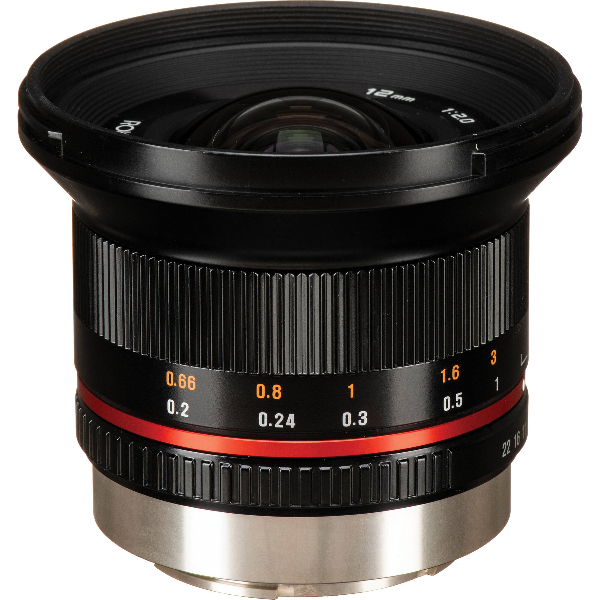 Rokinon 12mm f2.0 NCS CS Lens for Fujifilm X Mount (Black)