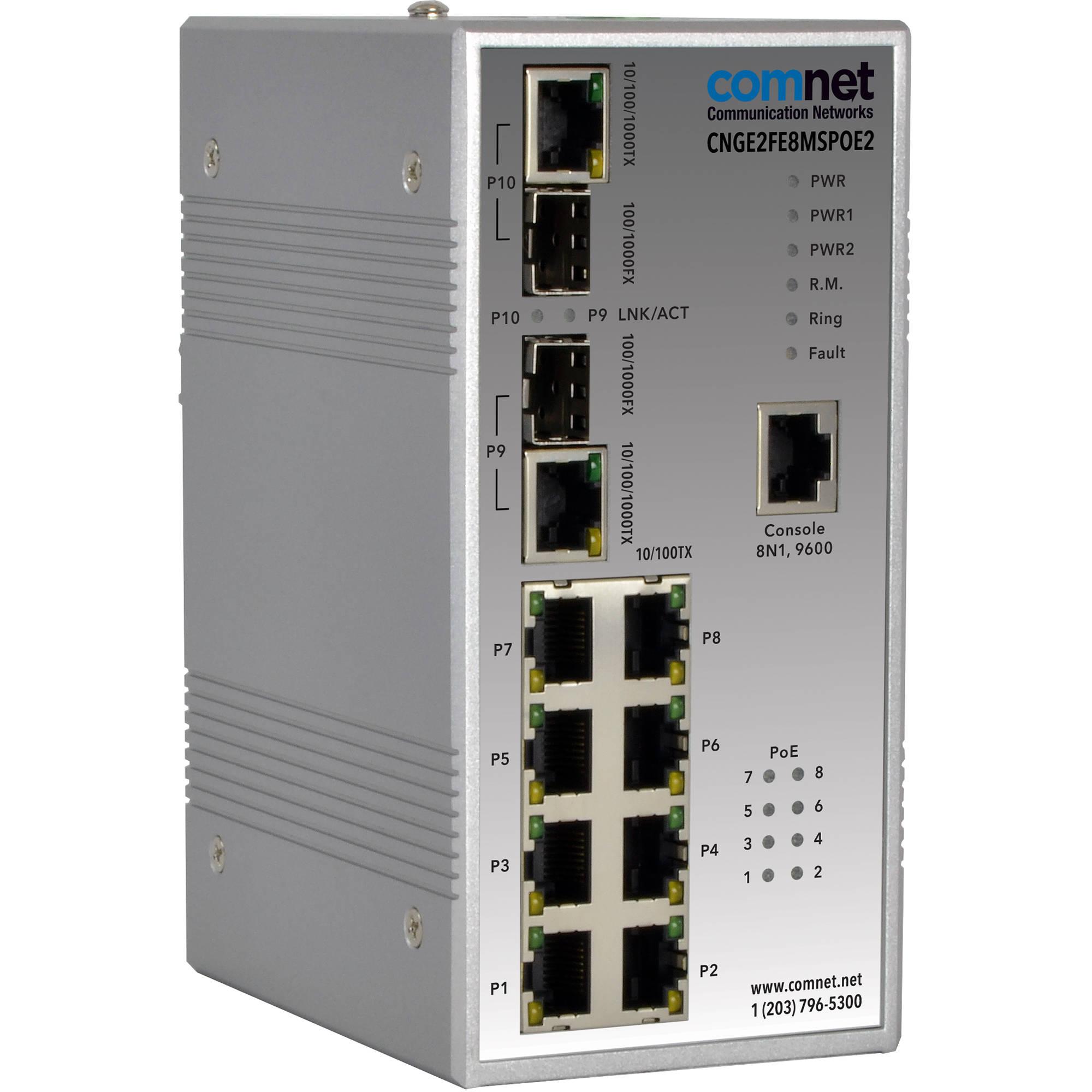 8 Ports Ethernet Gigabit 8 PoE Switch 120W 802.3af 10//100//1000Mbps UAP-AC-PRO
