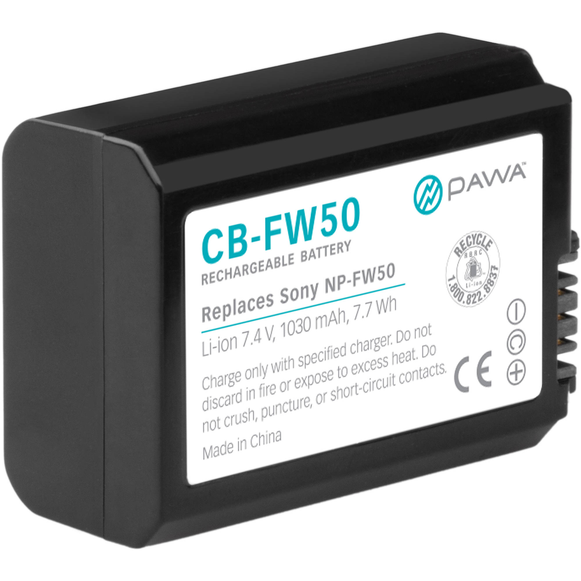 Lithium Ion Battery >> Pawa Np Fw50 Lithium Ion Battery Pack 7 4v 1030mah