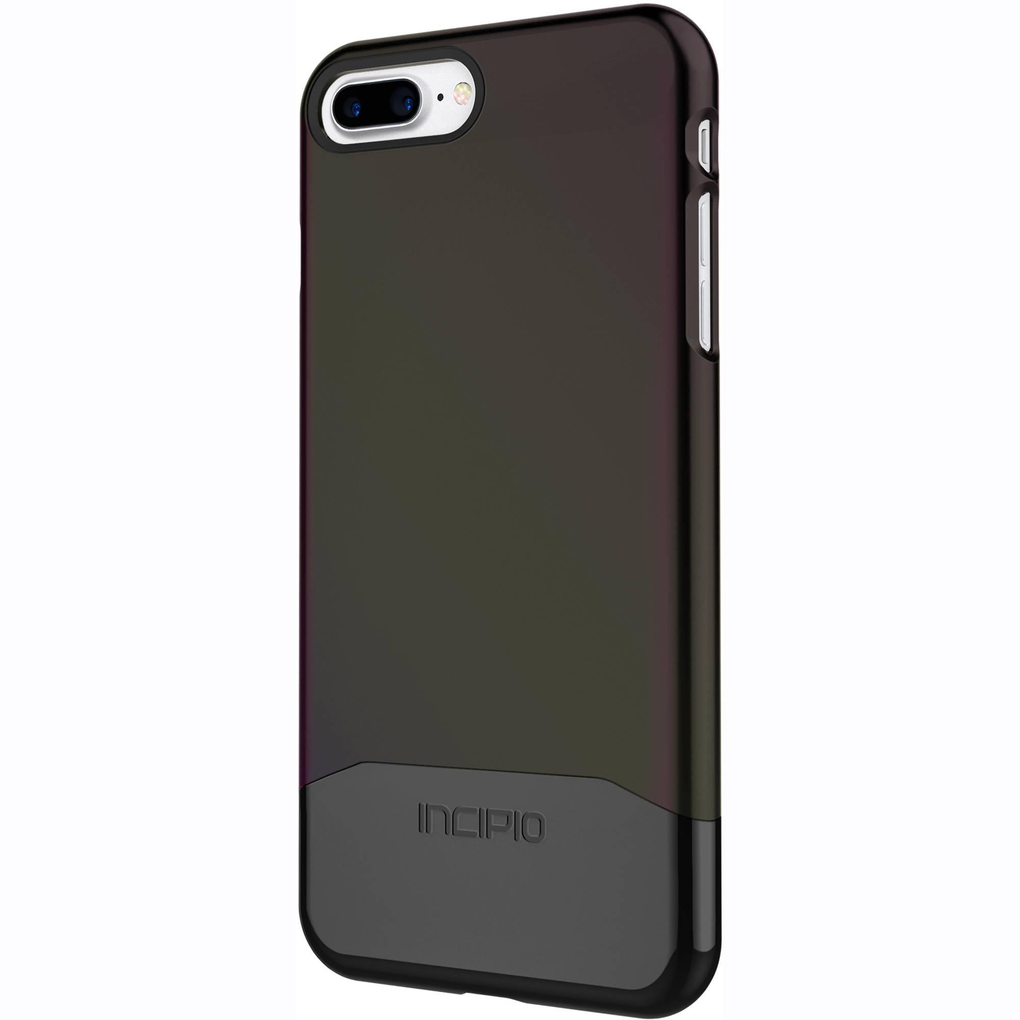Incipio Edge Chrome Case for iPhone 7 Plus (Iridescent Black Oil  Slick/Chrome Black)