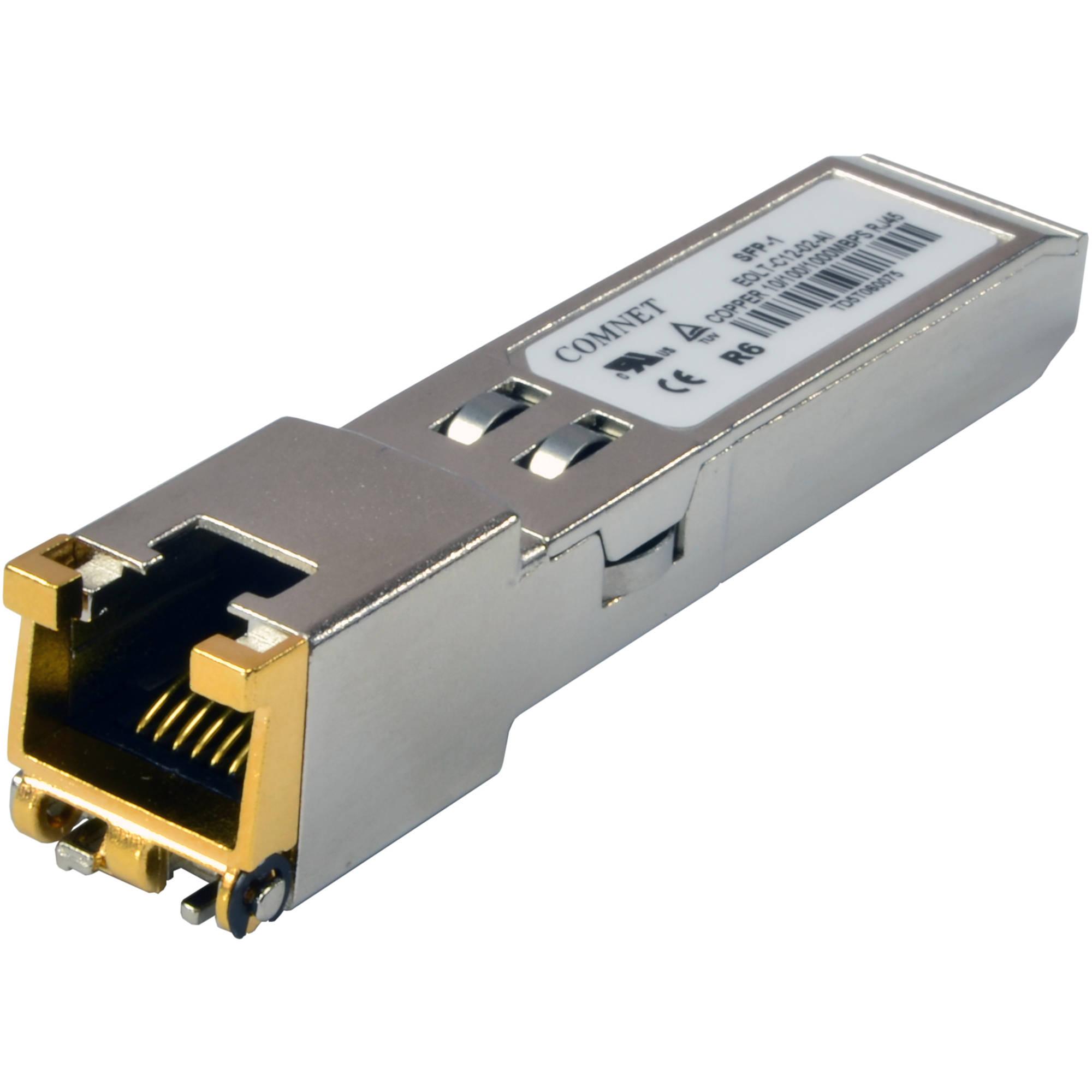 COMNET 1000Mbps SFP Single/Multimode 1310nm Transceiver (Cisco SFP  Compatible, LC Connector, 12 4 / 0 34 mi)