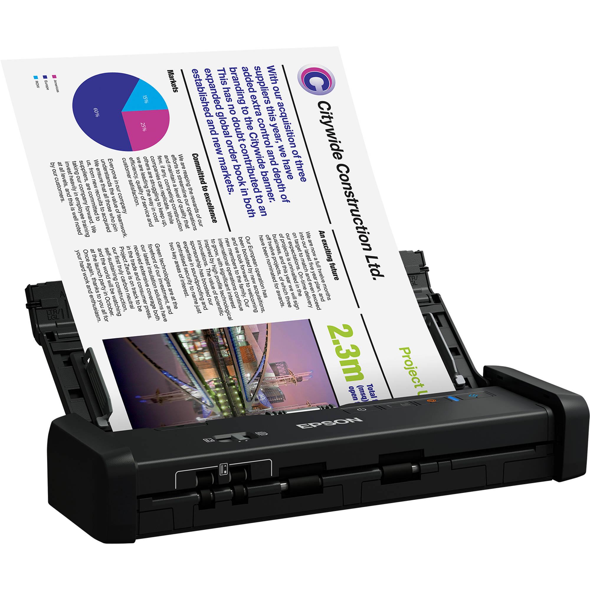 Epson WorkForce ES-200 Portable Duplex Document Scanner