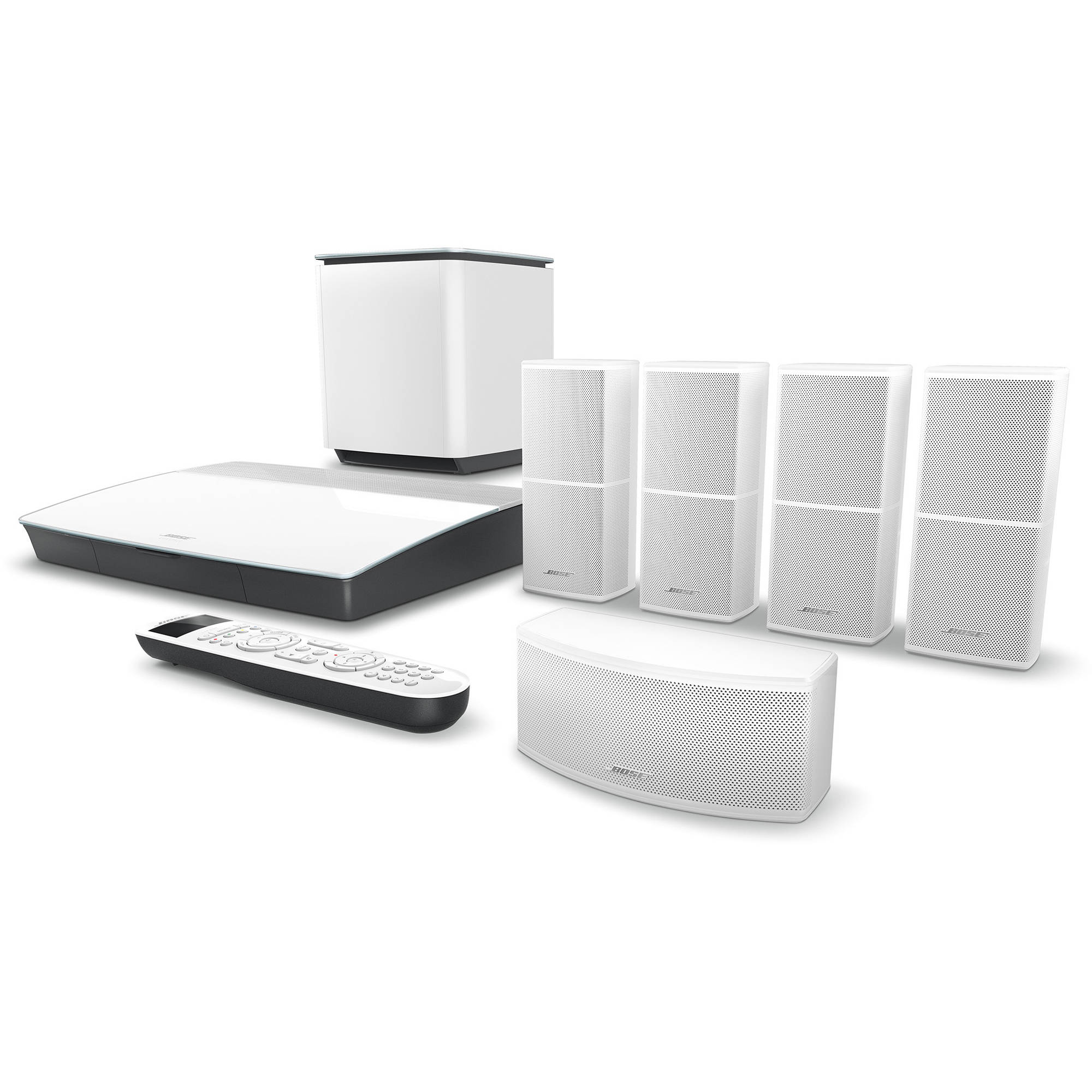 bose lifestyle 600 home theater system with jewel cube speakers (white)  home theater wiring bose jewel #10