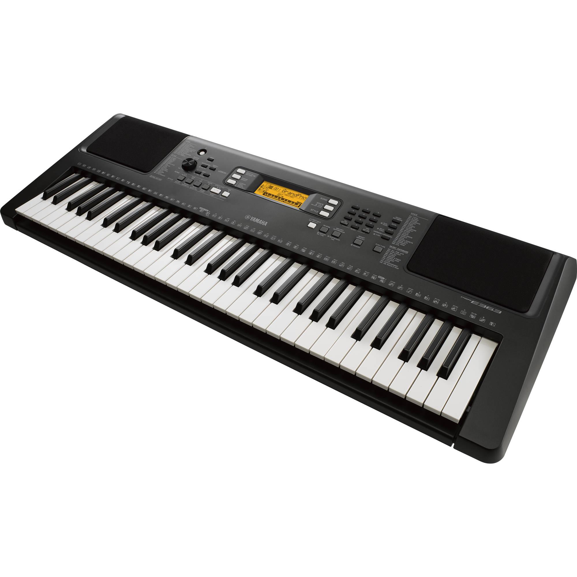 Yamaha Psr E363 Touch Sensitive Portable Keyboard