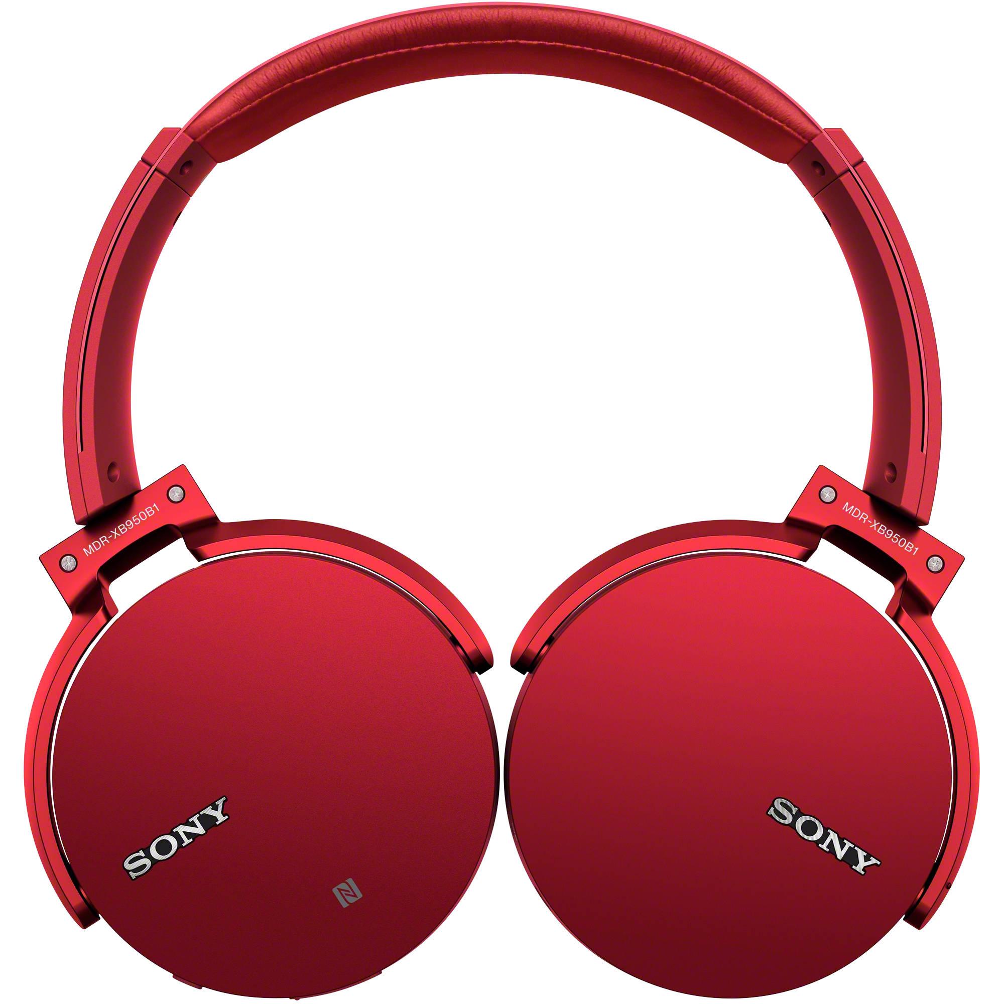 Sony Xb950b1 Extra Bass Bluetooth Headphones Red Mdrxb950b1 R