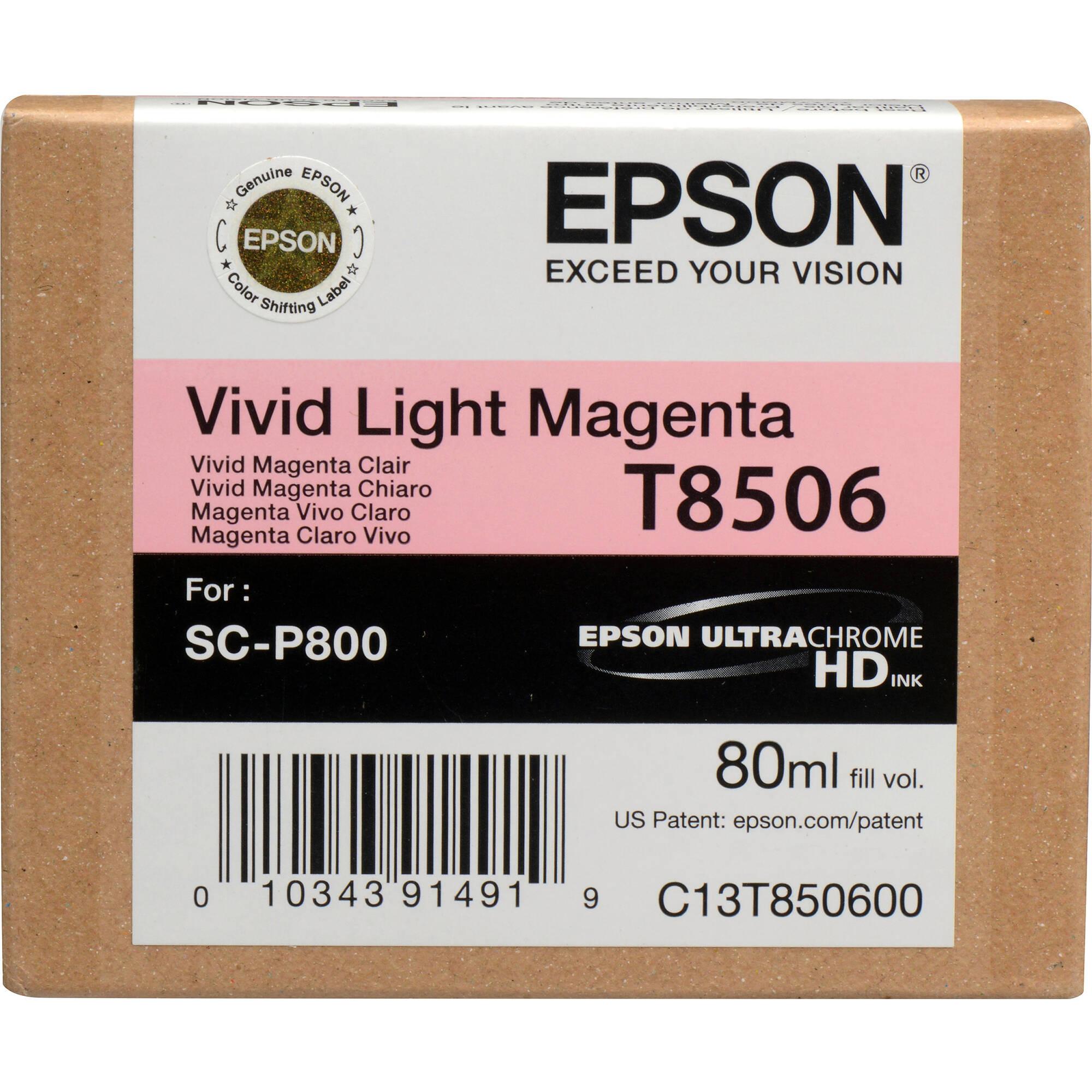 Light Magenta Epson T7606 Vivid Ink Cartridge
