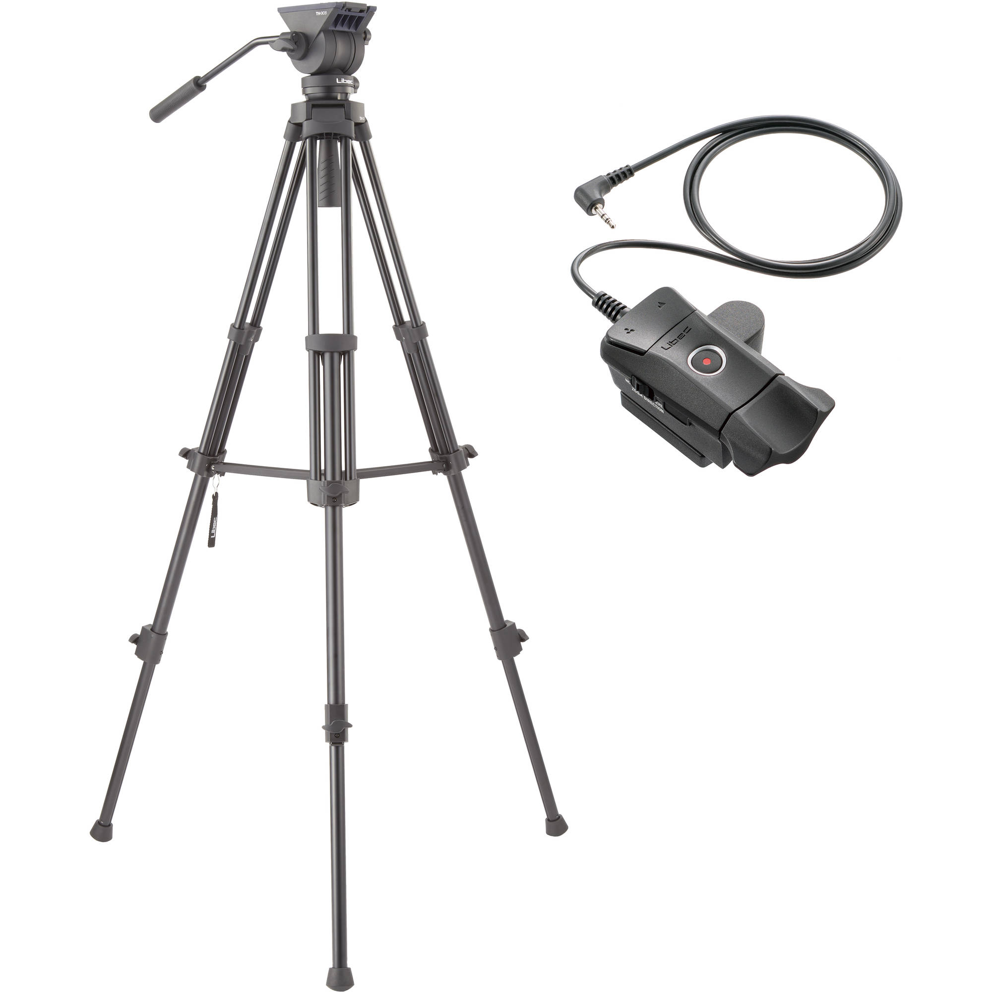 Libec Hands-Free Monopod with Dual Base Video Head and Carrying Case ZFC-L Zoom and Focus Control for LANC Video Cameras