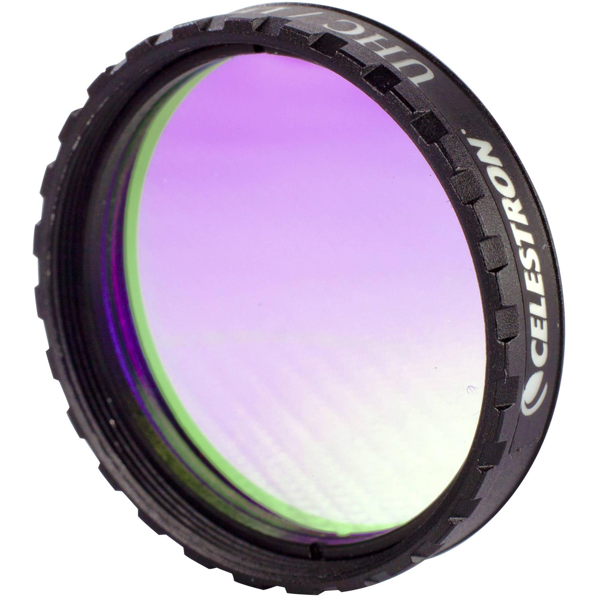 "1.25/"" Ultra High Contrast LPR Filter Celestron UHC Reduces Light Pollution."