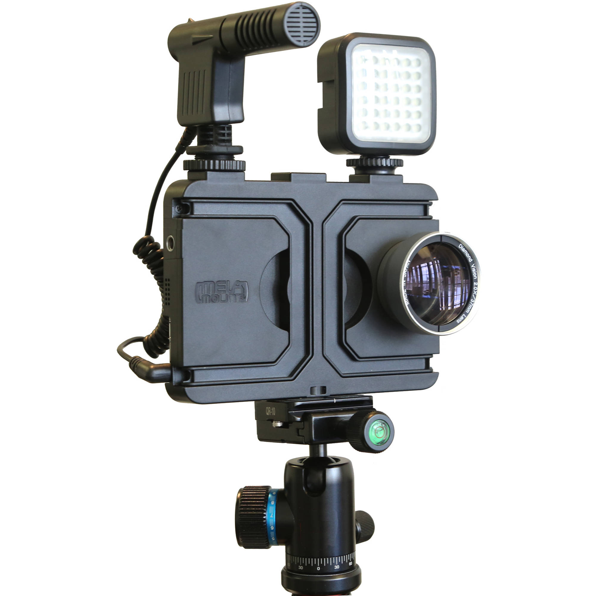 best service bbf8c e4021 Melamount Video Stabilizer Pro Multimedia Rig Case for iPhone 7 Plus/8 Plus