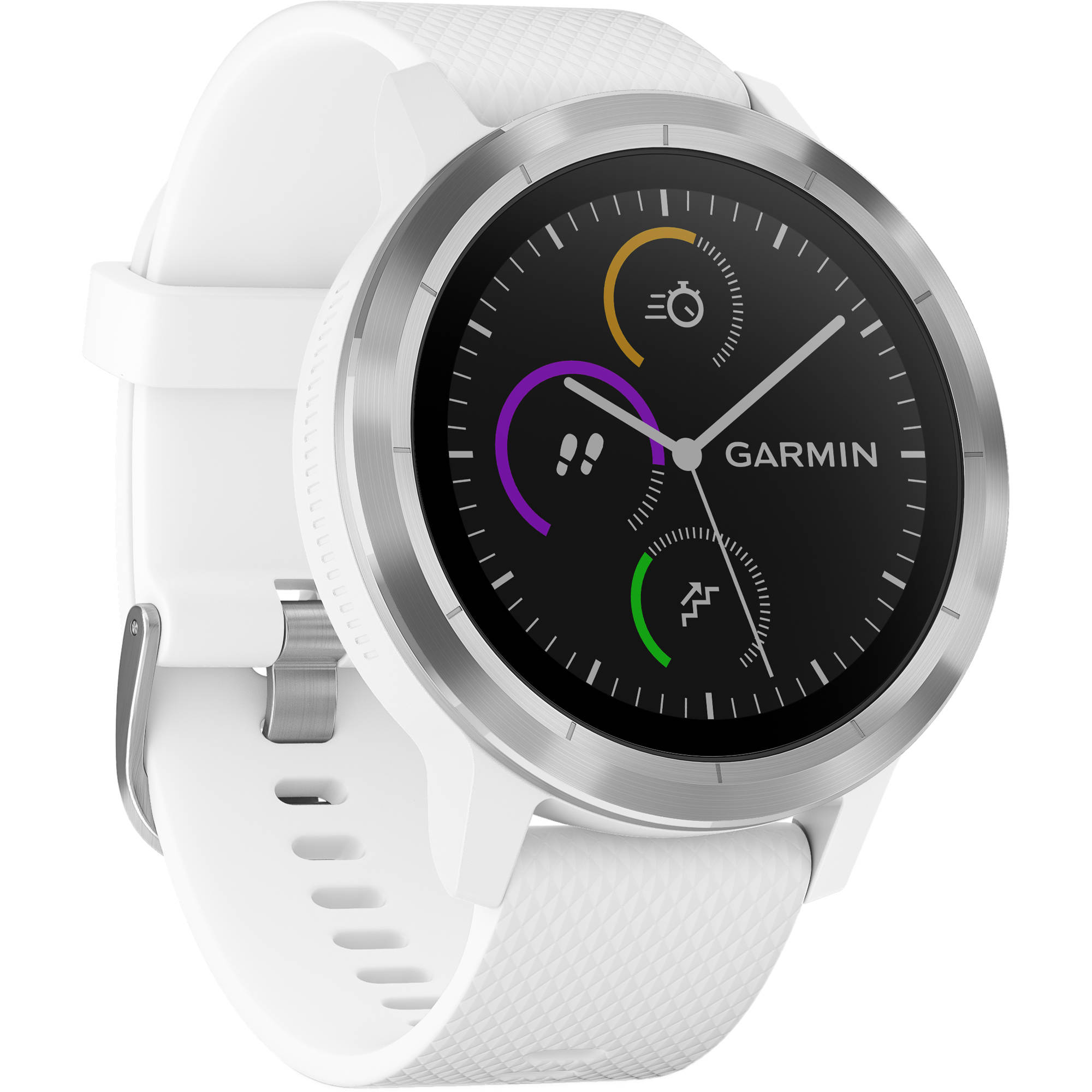 aa8d112bb9 Garmin vivoactive 3 (White with Stainless Hardware) 010-01769-21