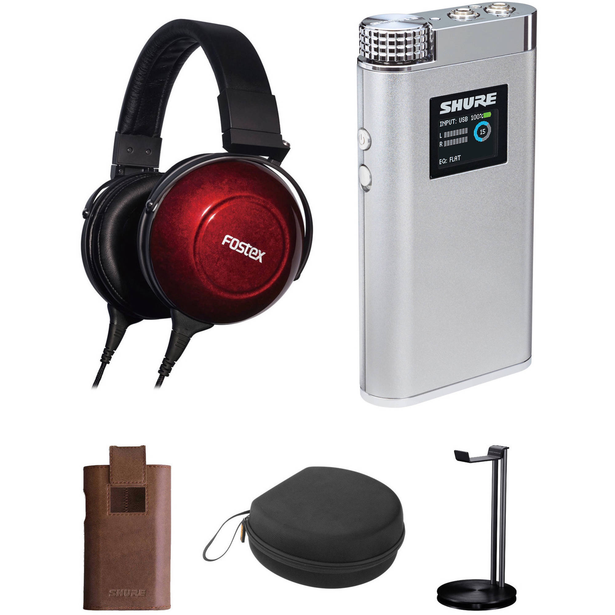 Fostex TH900mk2 Premium Reference Headphones and Shure SHA900 Portable  Amplifier Kit