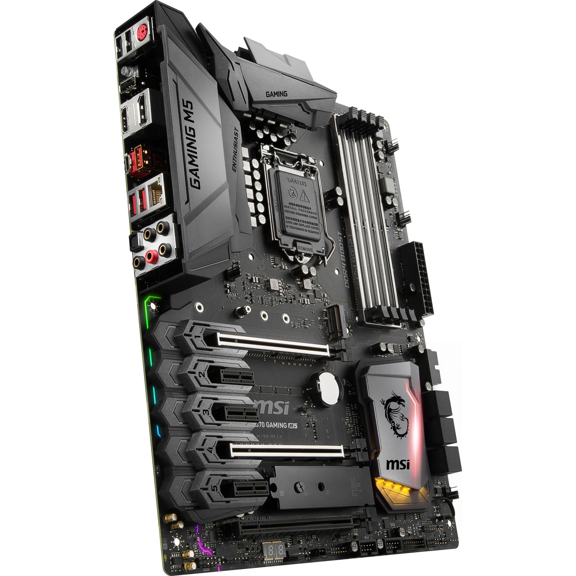 MSI Z370 Gaming M5 LGA 1151 ATX Motherboard
