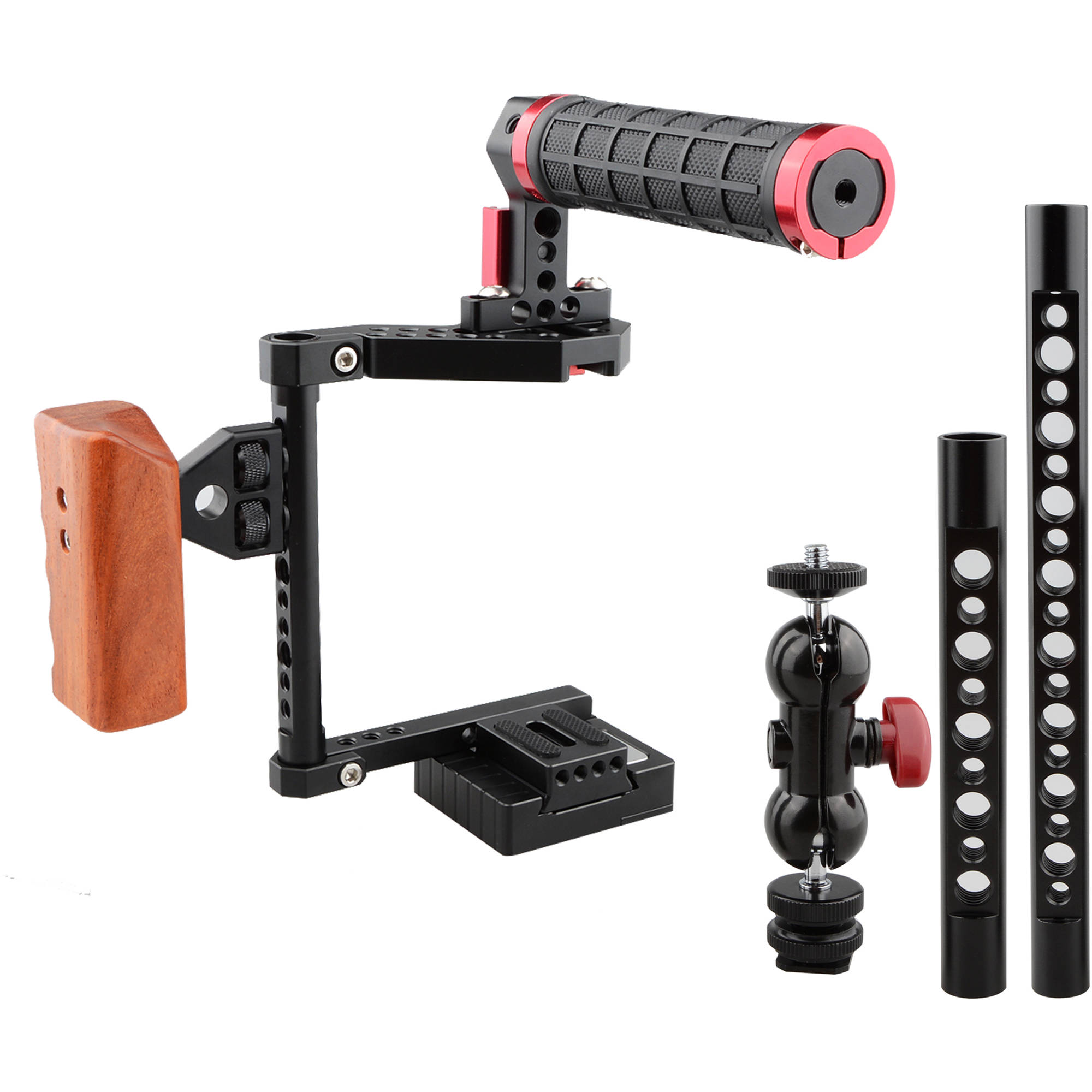 CAMVATE DSLR Camera Cage Kit for Medium and Large-Sized DSLRs