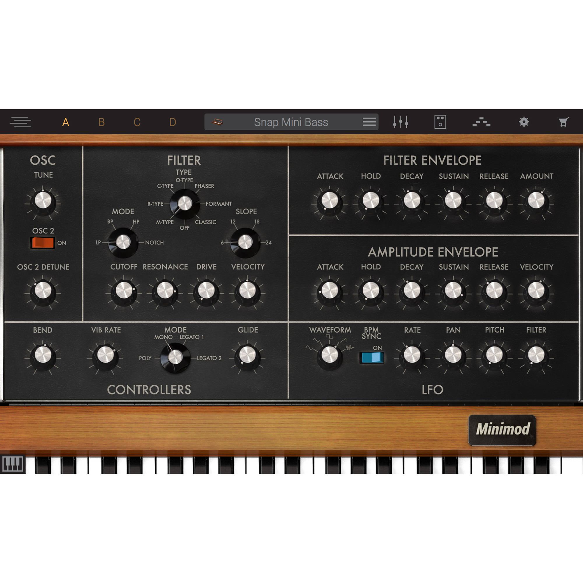 IK Multimedia Syntronik Minimod - Virtual Synthesizer Plug-In (Download)
