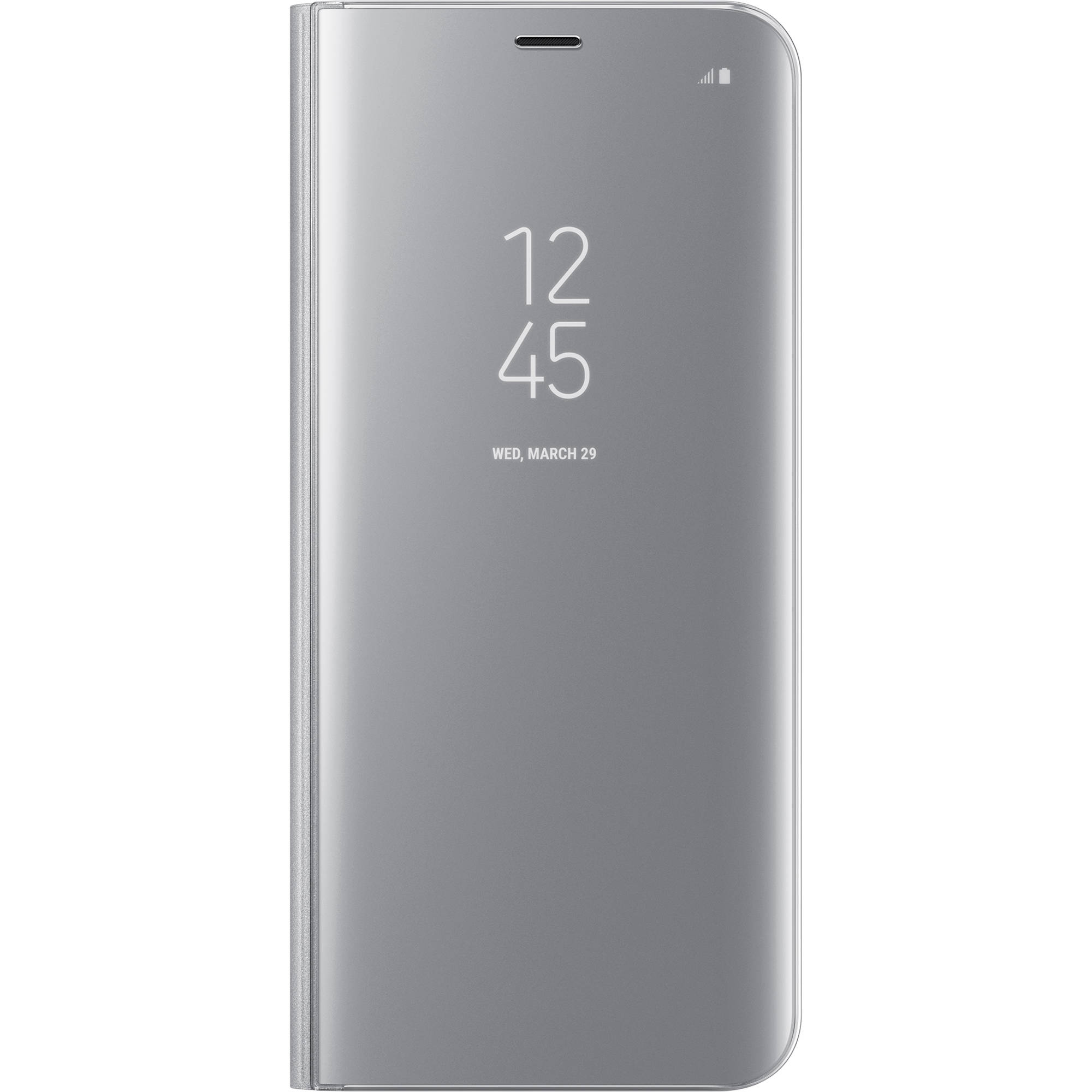 the latest ce9b7 81195 Samsung S-View Flip Cover for Galaxy S8+ (Silver)