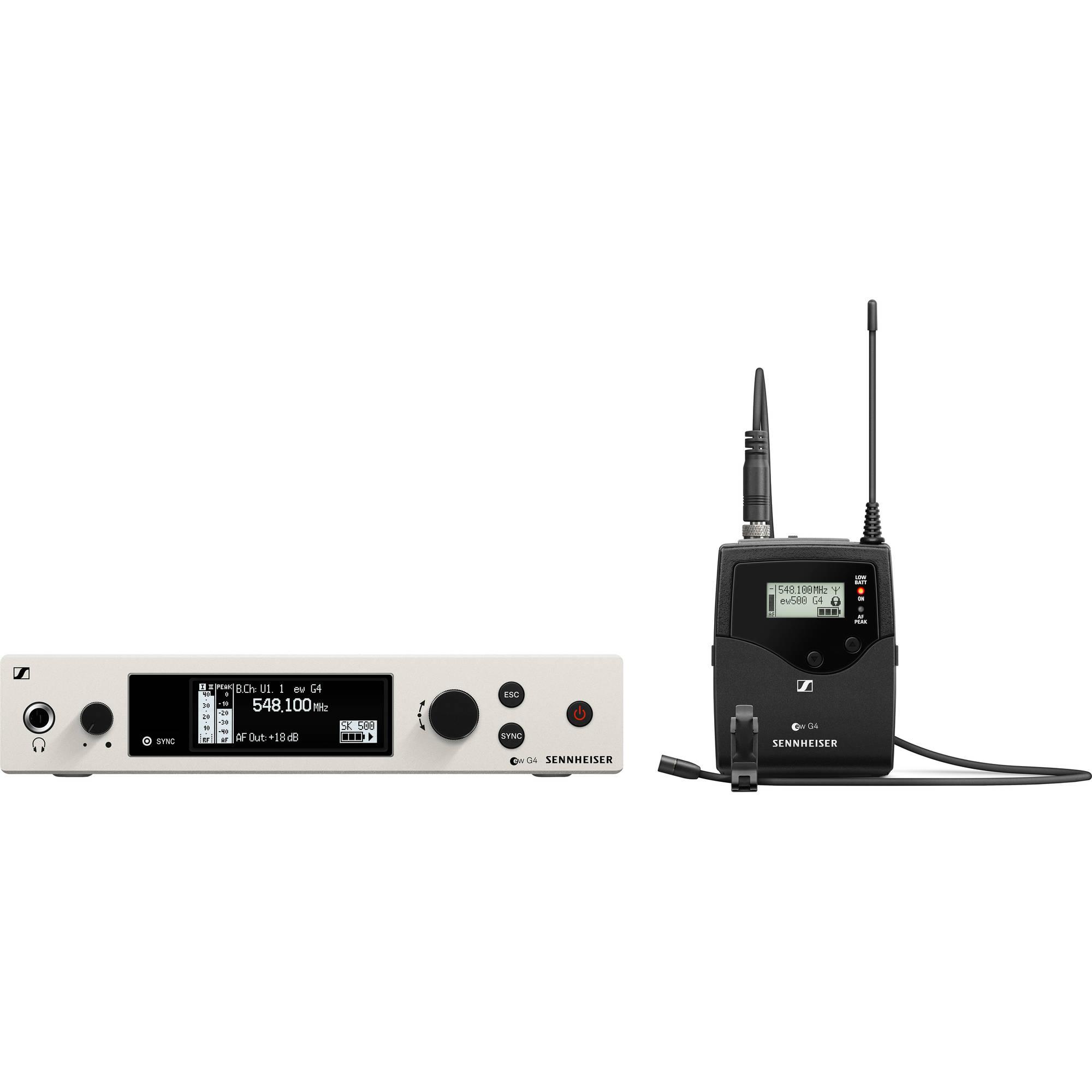 Sennheiser EW 500 G4-MKE2 Wireless Omni Lavalier Microphone System (AW+:  470 to 558 MHz)