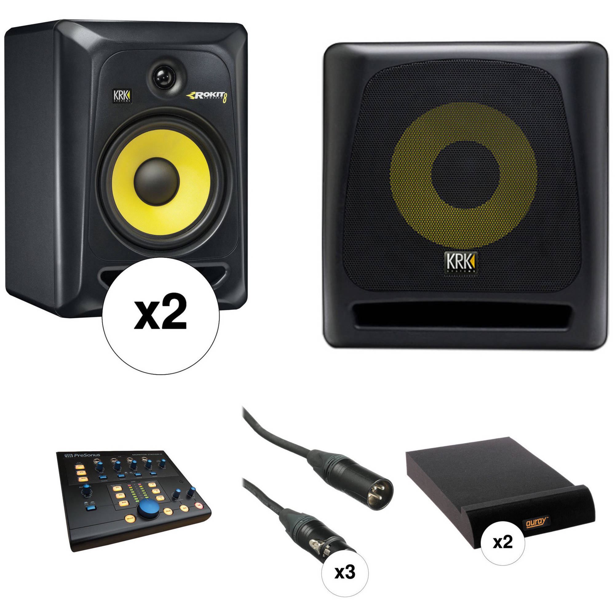 Verrassend KRK ROKIT 8 G3 Monitors and K10s Subwoofer With Monitor B&H EI-92