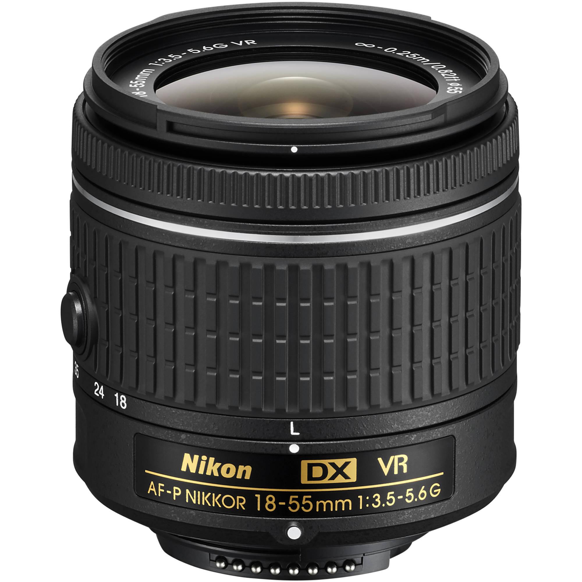Nikon Af P Dx Nikkor 18 55mm F 3 5 5 6g Vr Lens 20059b B H Photo