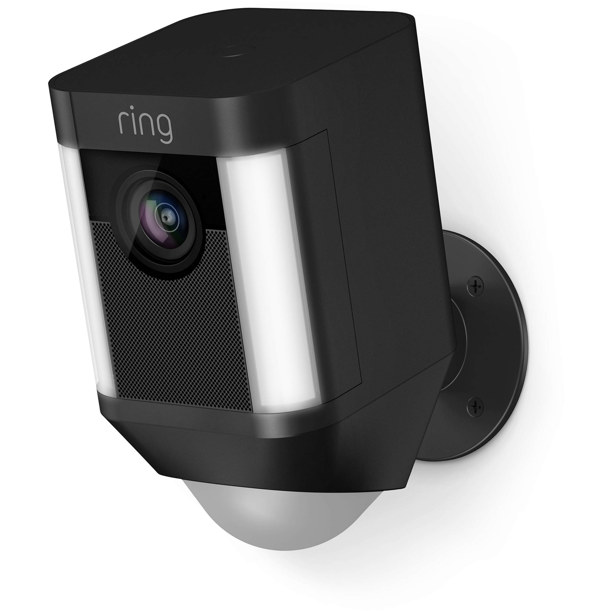 Ring Spotlight Cam 1080p Outdoor Wi Fi Camera With Night Vision Battery Ed Black