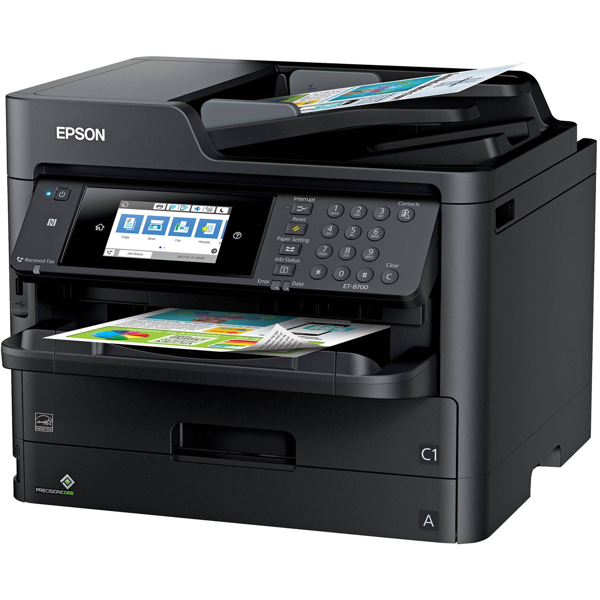 Epson WorkForce Pro ET-8700 EcoTank All-in-One Inkjet Printer