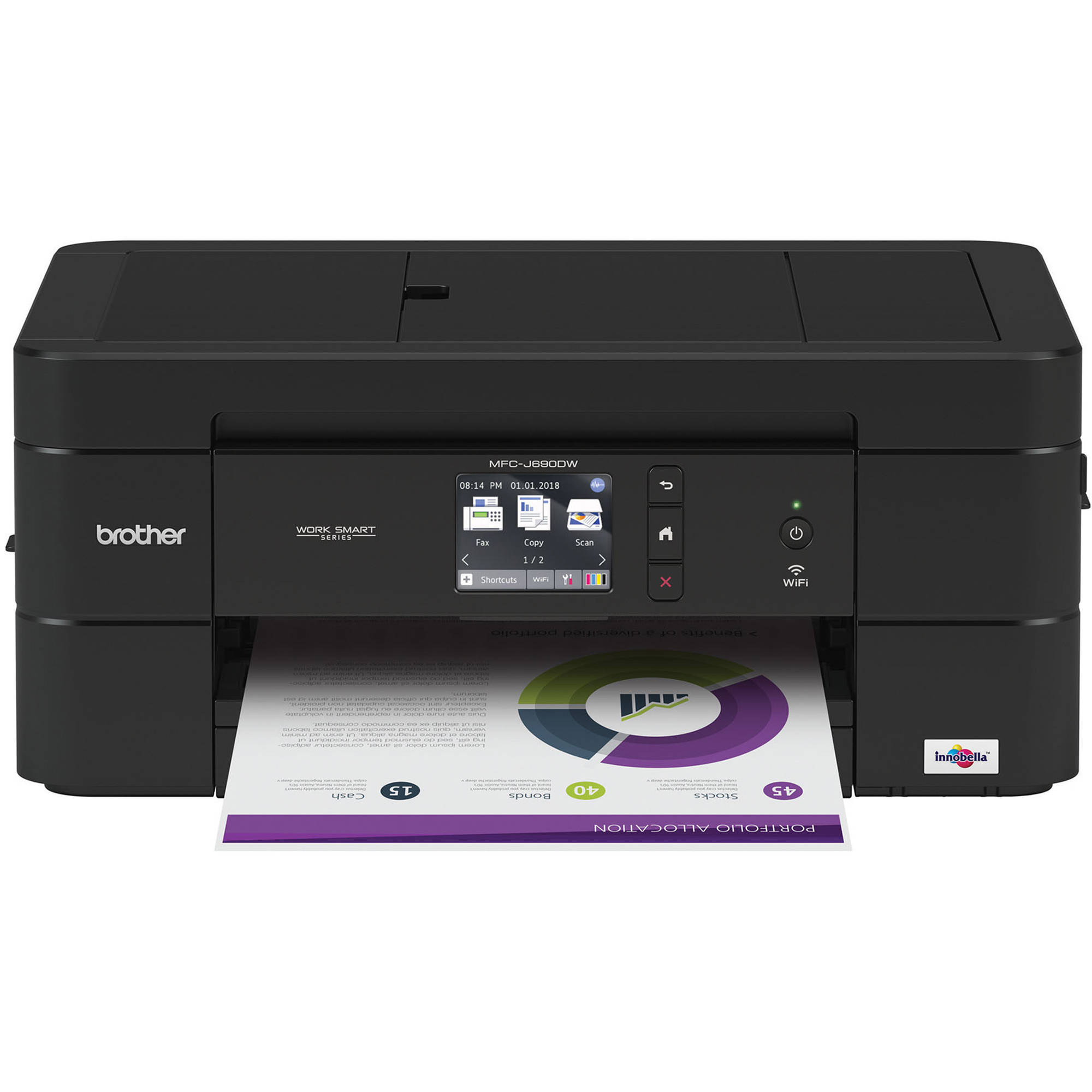 Brother Work Smart Series MFC-J690DW All-In-One Inkjet Printer