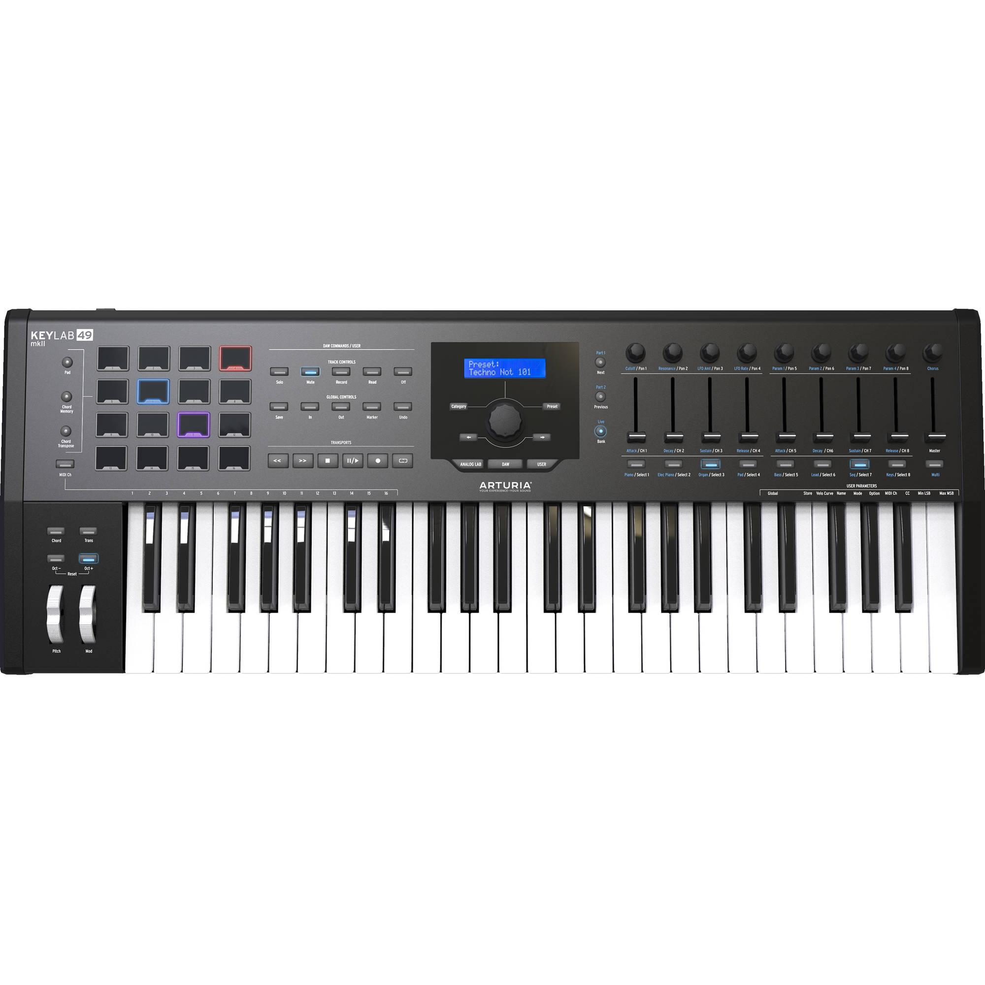 Arturia KeyLab MKII 49 - Professional MIDI Controller and Software (Black)