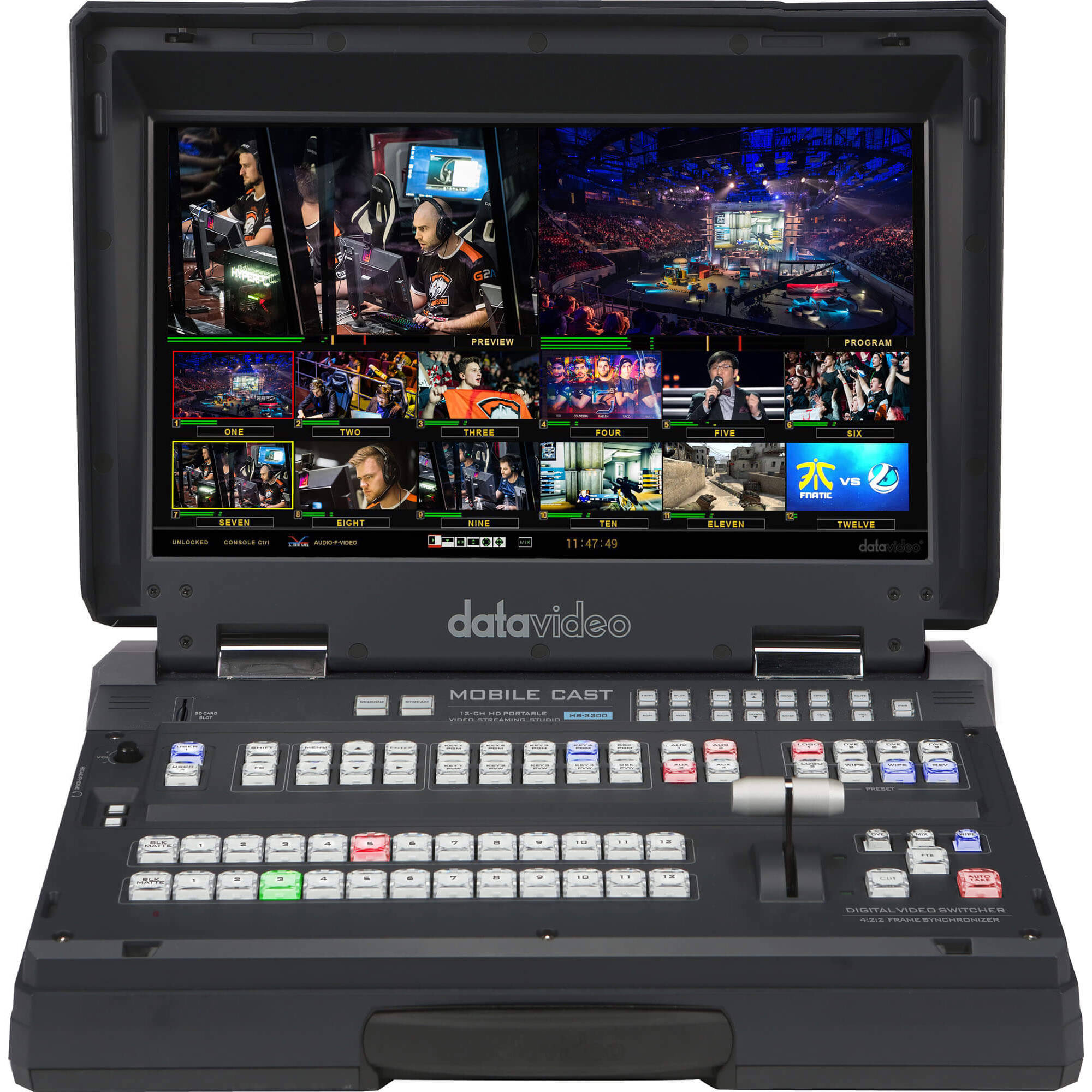 Datavideo 12 Input HD-SDI And HDMI Hand Carried Mobile Studio With Built-In  17 3