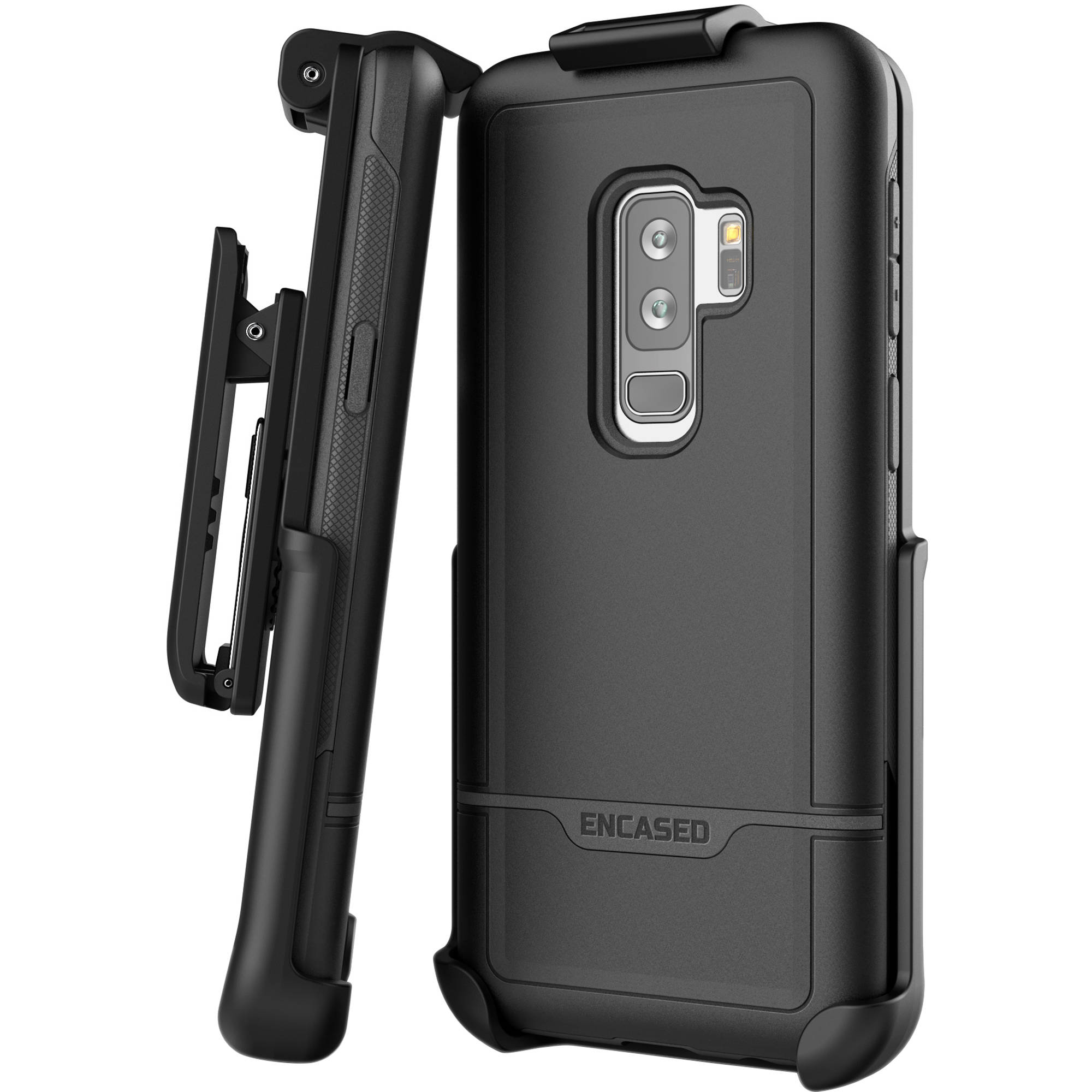 pretty nice b00a4 1d461 Encased Rebel Series Case with Belt Clip Holster for Samsung Galaxy S9+