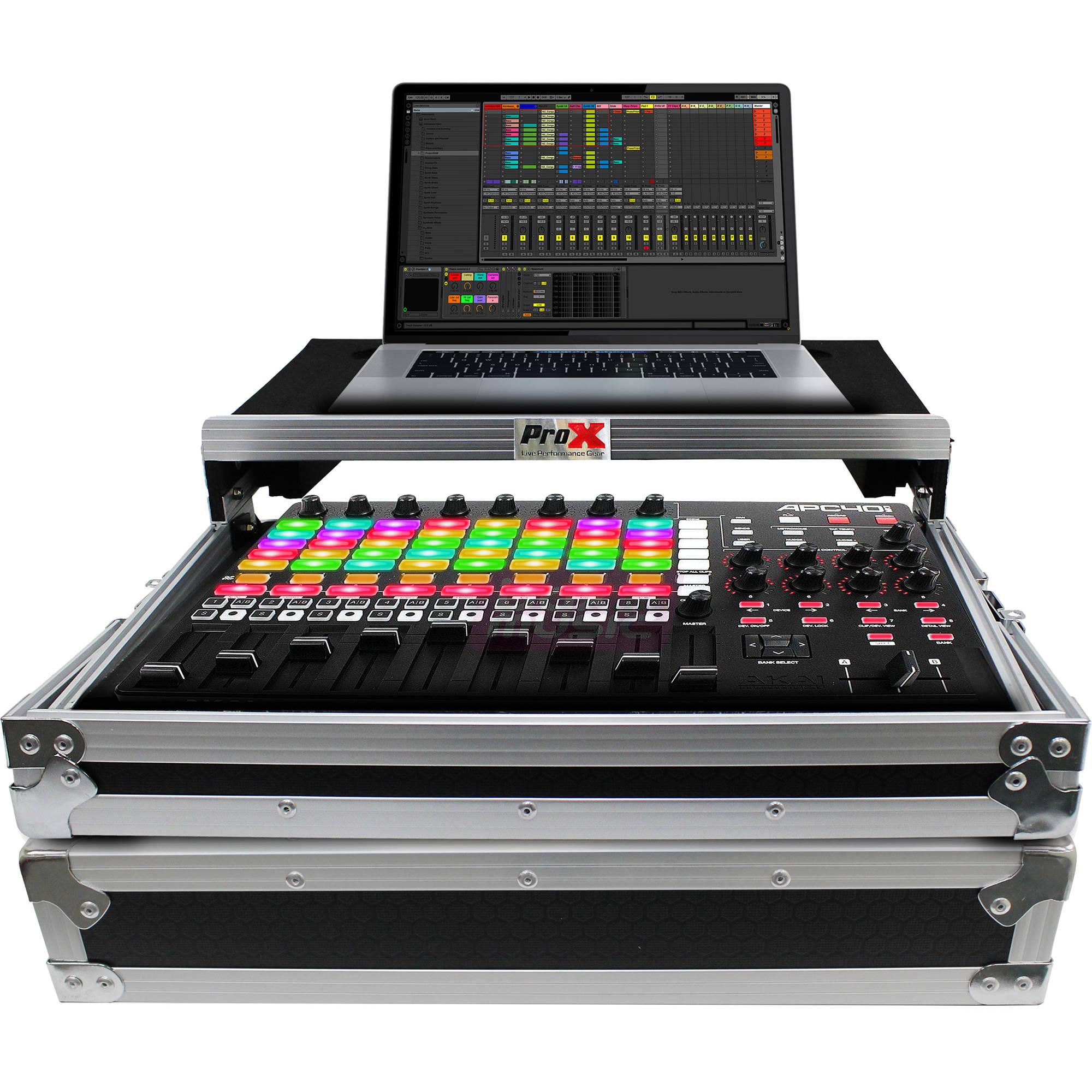 ProX Flight Case for Akai APC40 MKII with Sliding Laptop Shelf