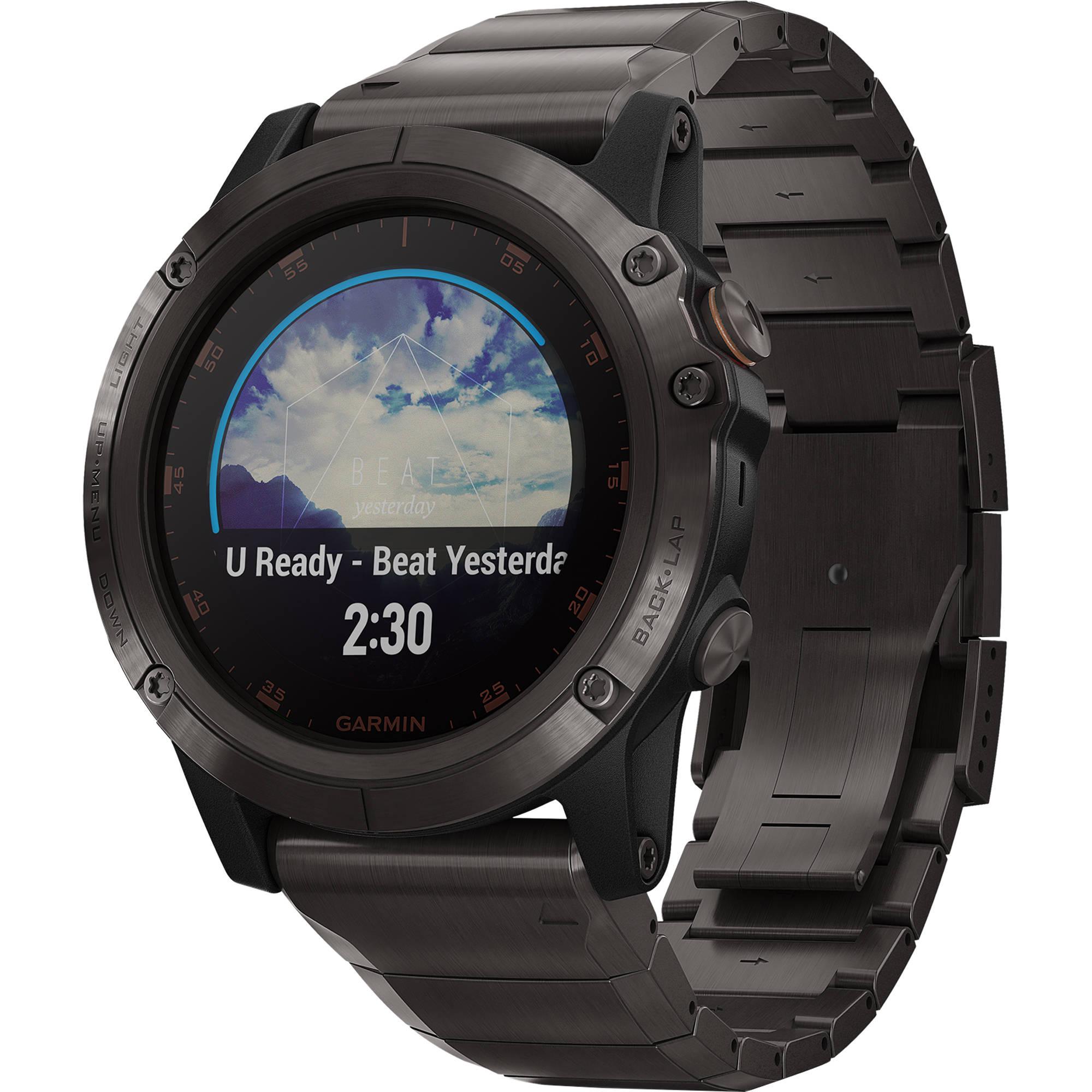 Garmin fenix 5X Plus Sapphire Edition Multi-Sport Training GPS Watch (51mm,  Carbon Gray DLC Titanium with DLC Titanium Band)