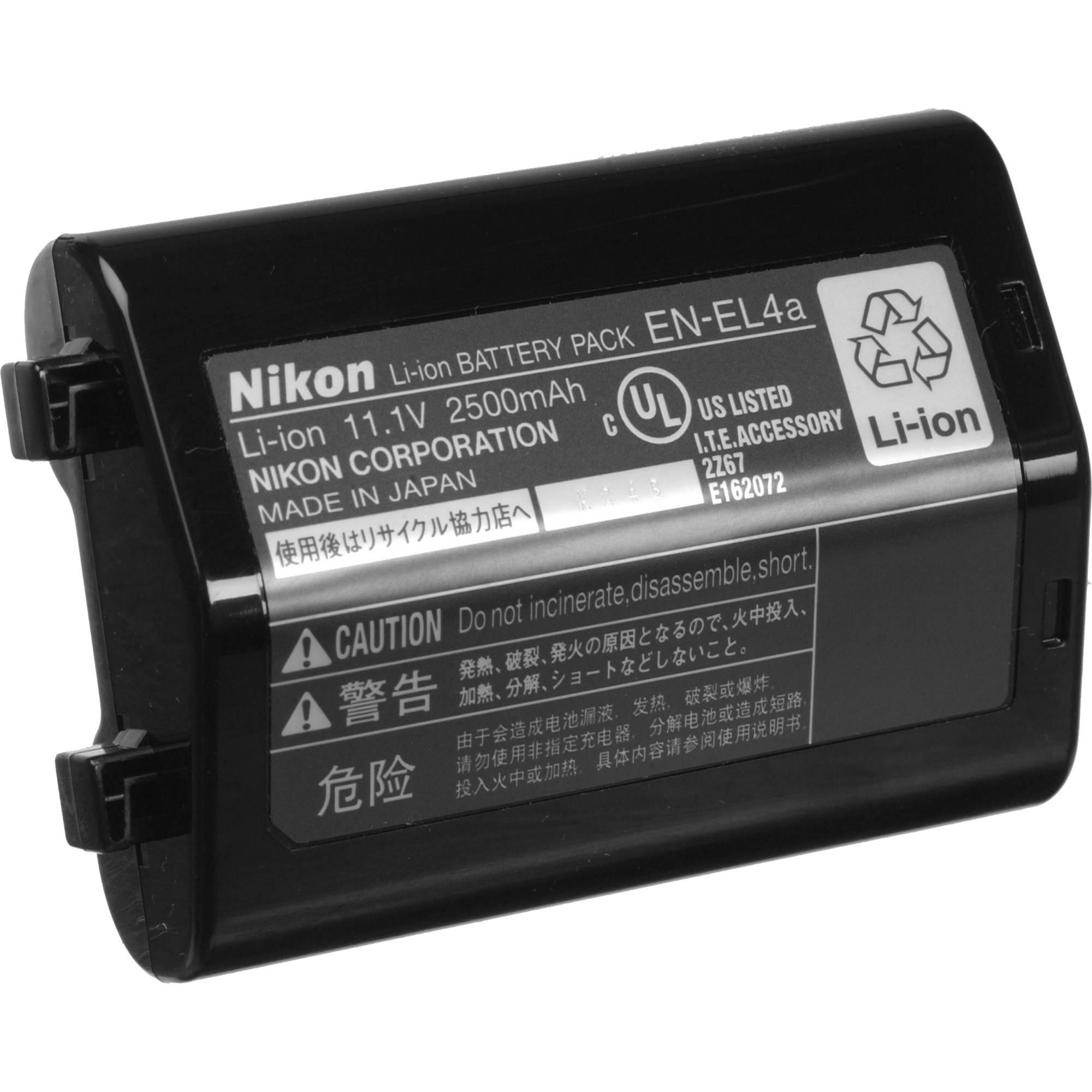 Nikon EN-EL4a Rechargeable Lithium-Ion Battery (11 1v 2450mAh)