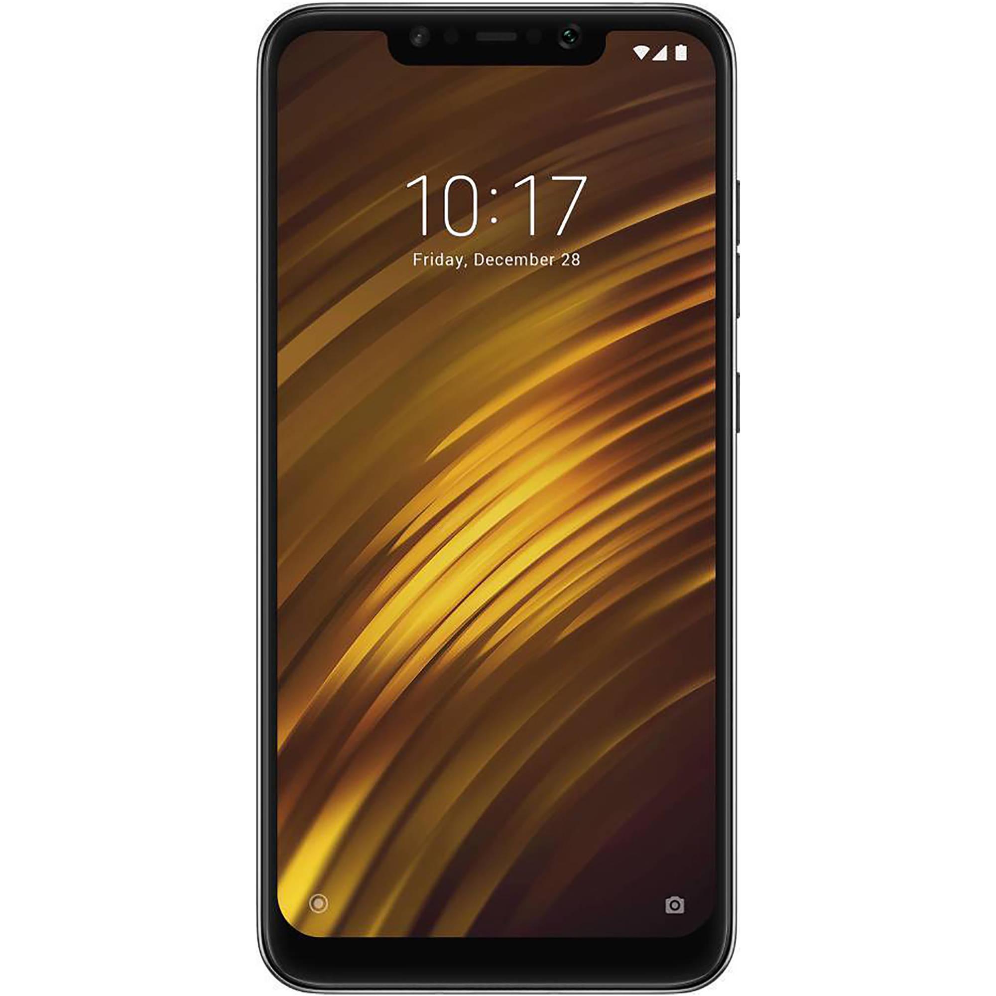 Xiaomi Pocophone F1 Dual-SIM 64GB Smartphone (Unlocked, Graphite Black)