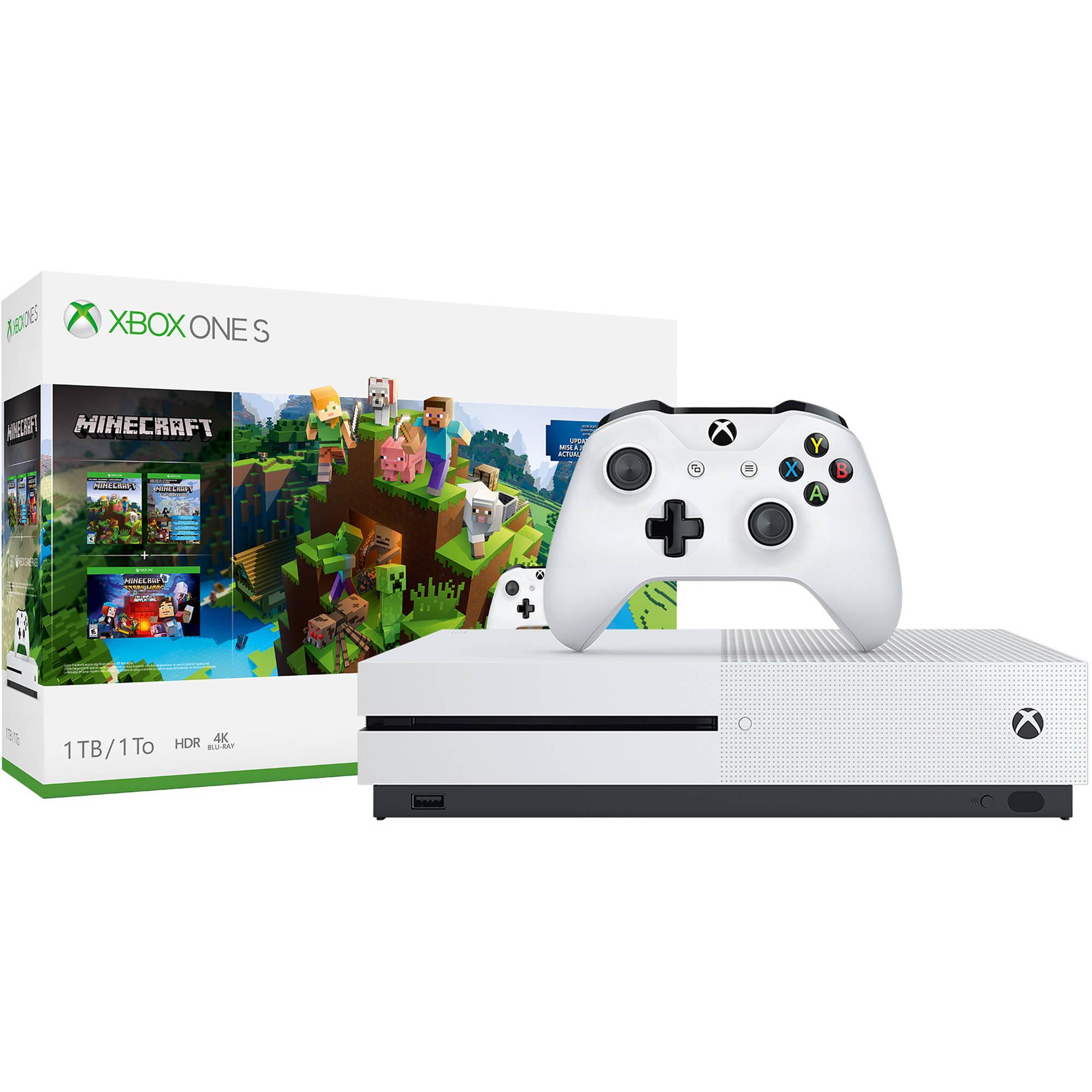 Microsoft Xbox One S Minecraft Bundle