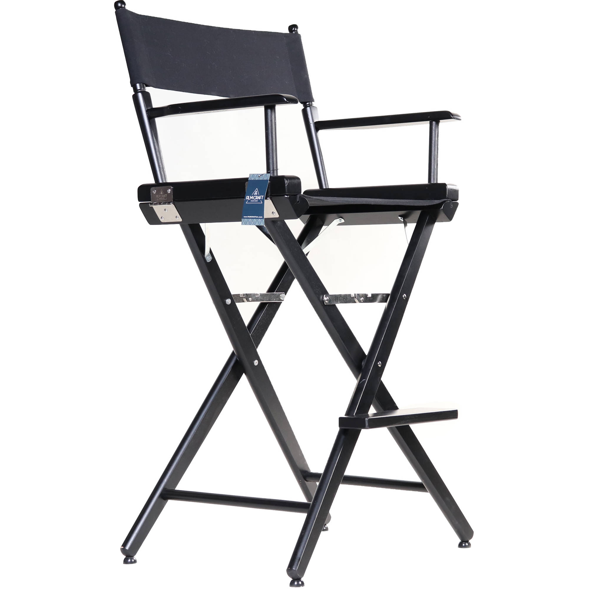 Incredible Filmcraft Pro Series Tall Directors Chair 30 Black With Black Canvas Ocoug Best Dining Table And Chair Ideas Images Ocougorg