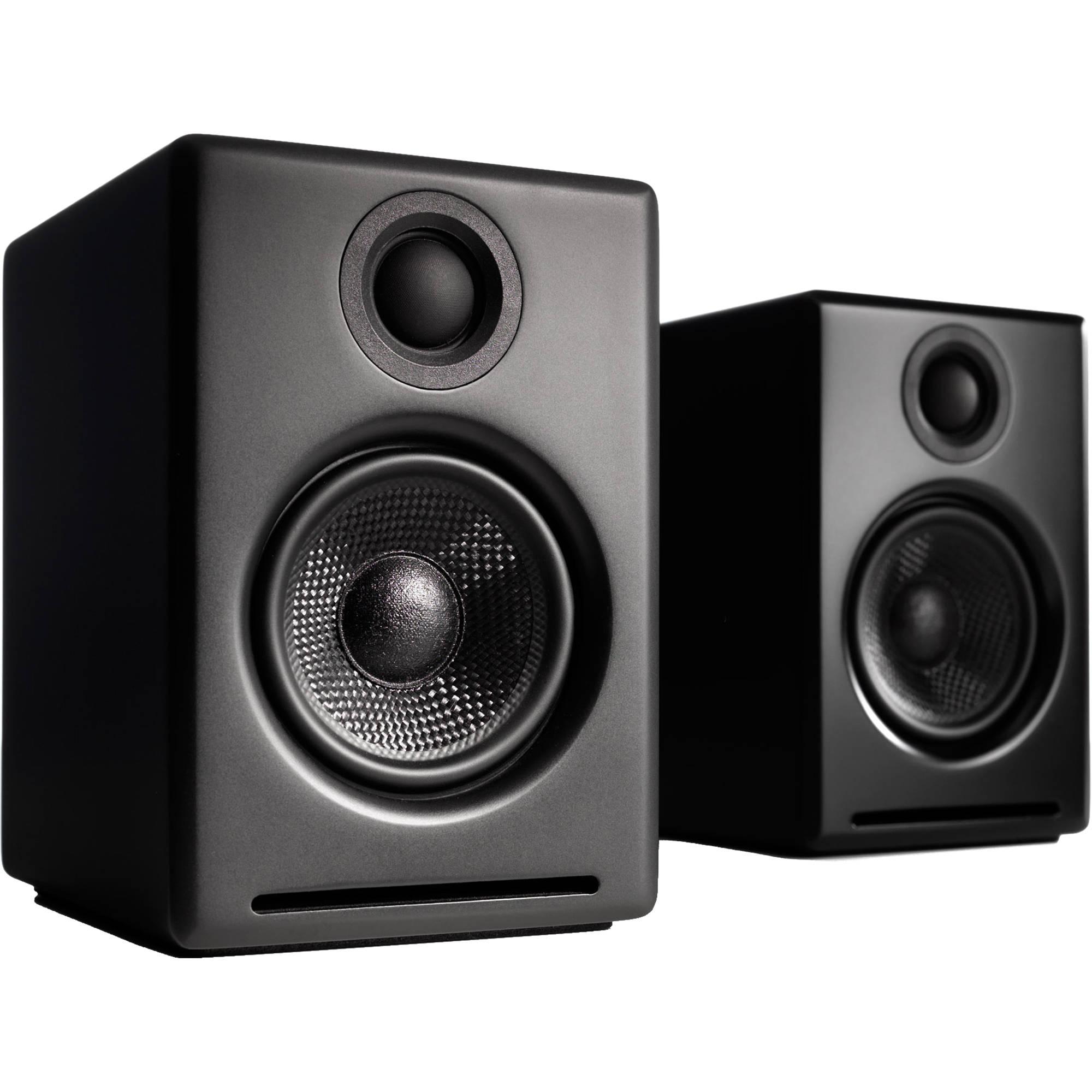 Built-in 16Bit DAC and Amplifier Audioengine A2+ Wireless 60W Powered Desktop Speakers Bluetooth aptX Codec Black