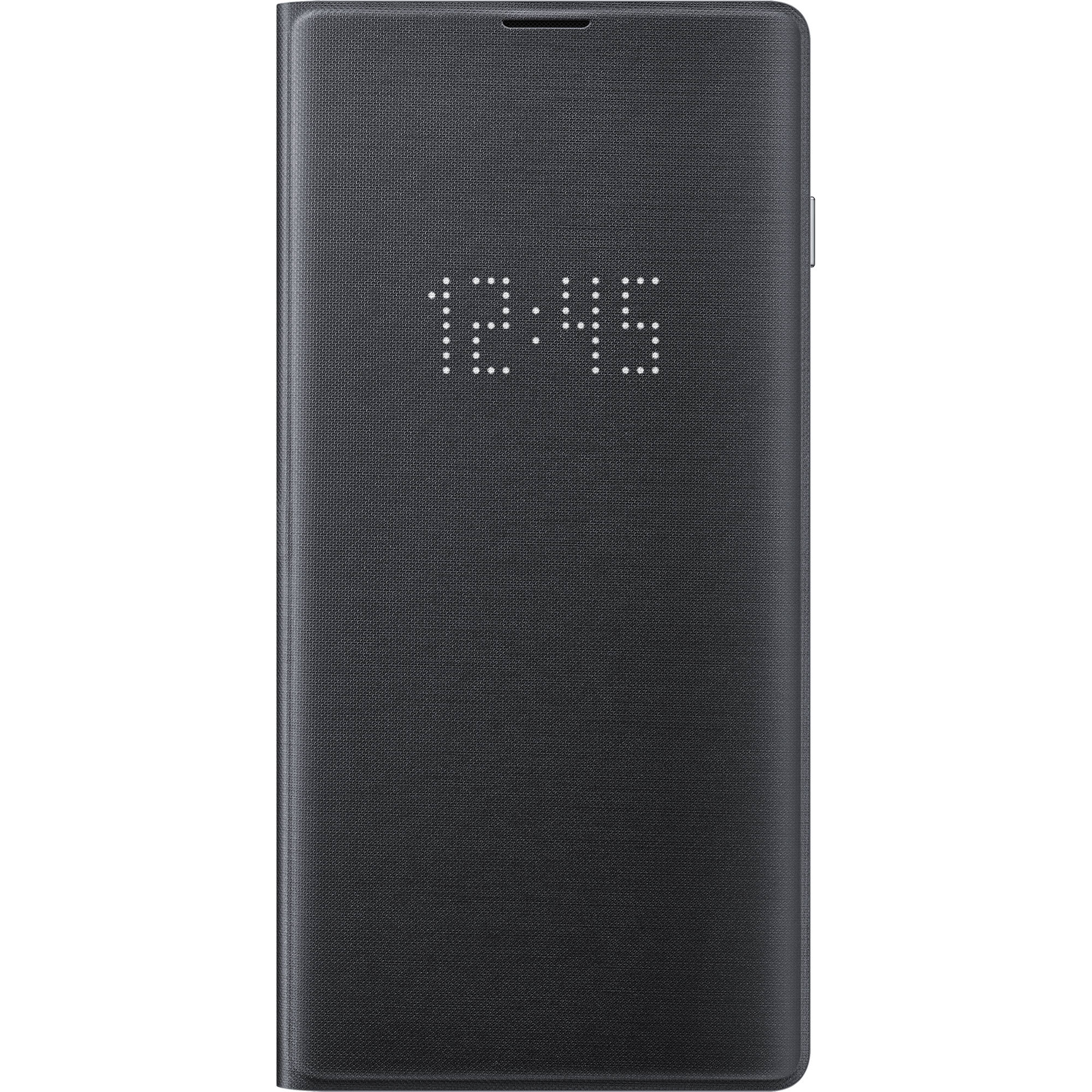 official photos 45c58 1ffd9 Samsung LED Wallet Cover for Galaxy S10 (Black)