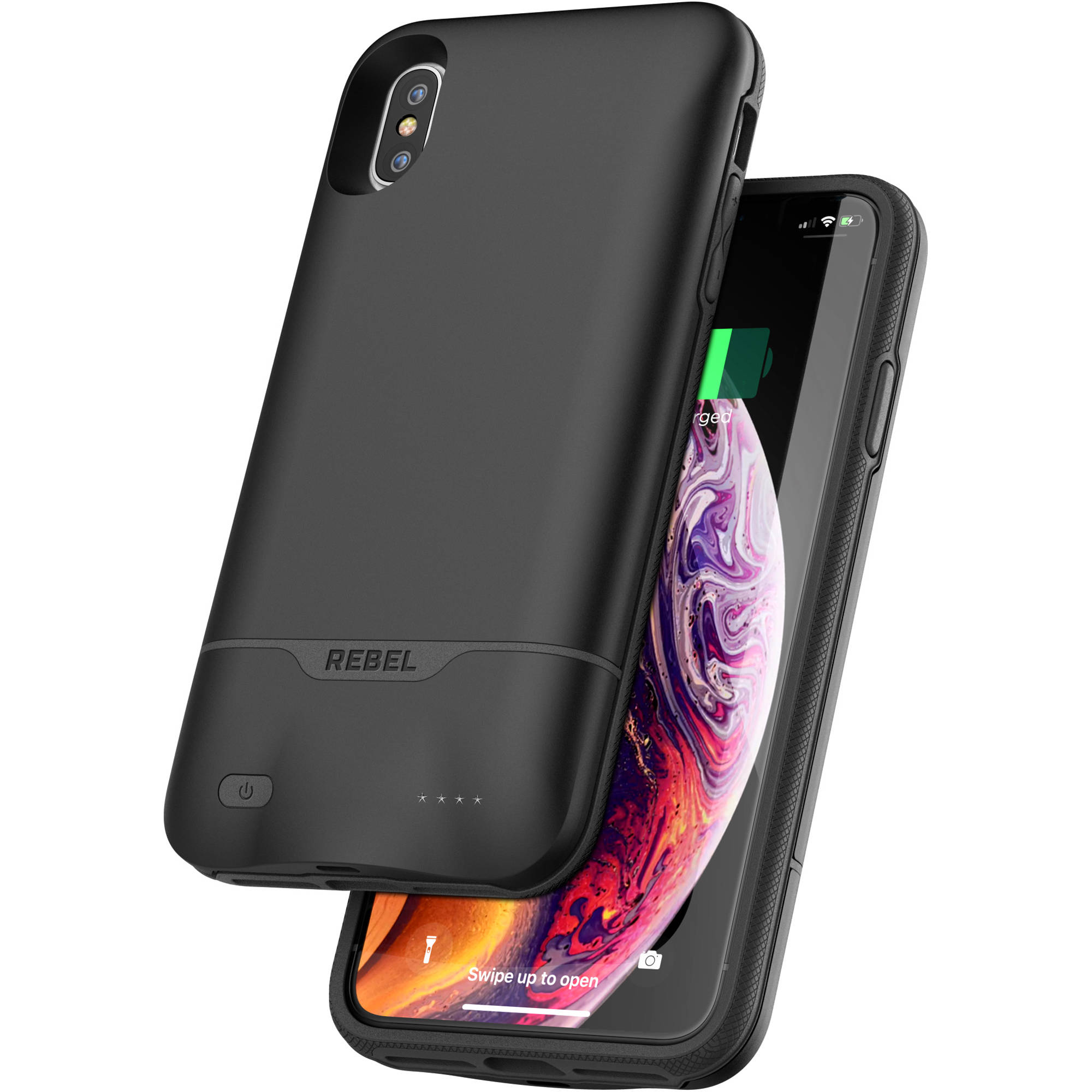 enjoy free shipping innovative design matching in colour Encased Rebel Power Battery Case for iPhone XS Max (Black)