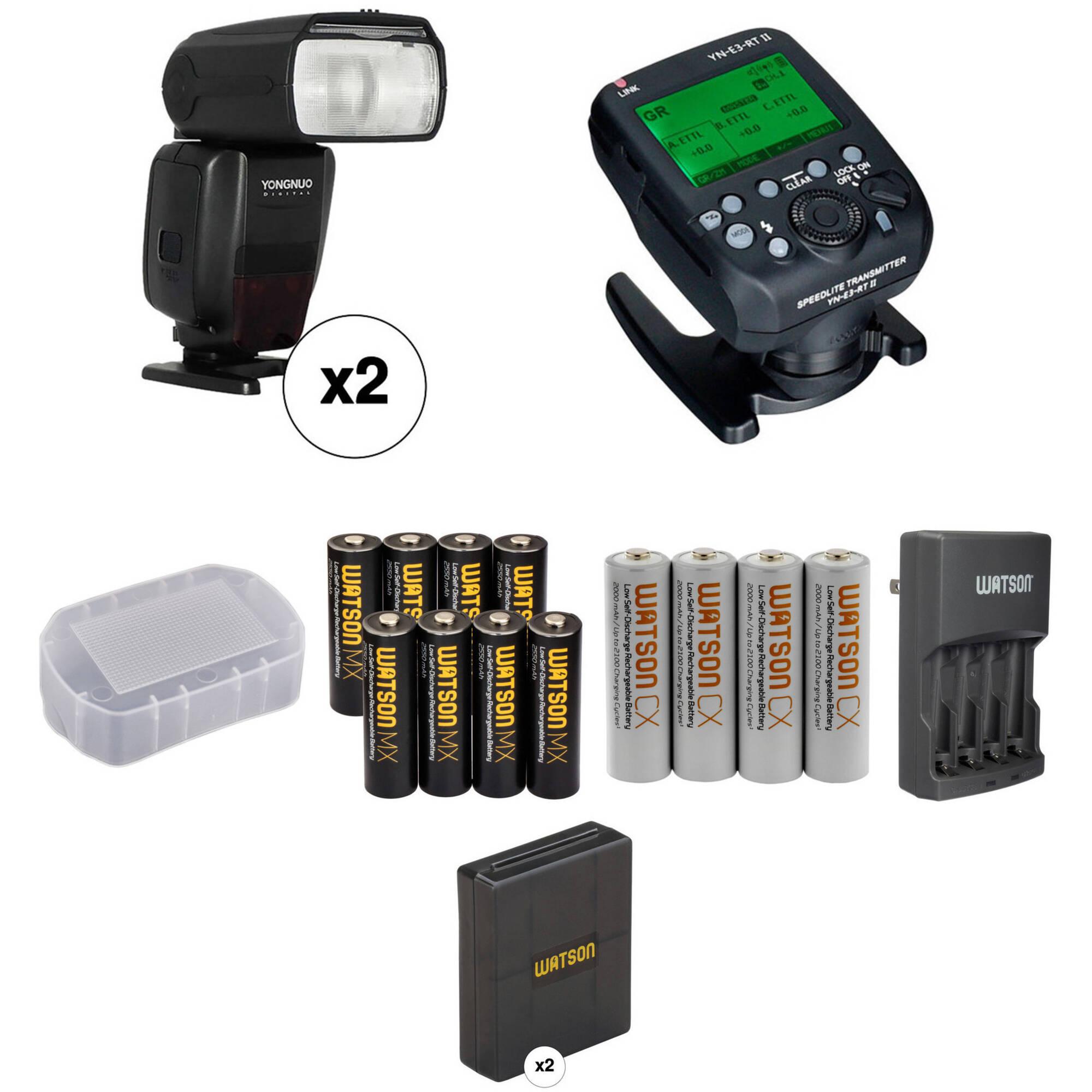 Yongnuo Speedlite YN600EX-RT II Wireless Flash Kit for Canon Cameras